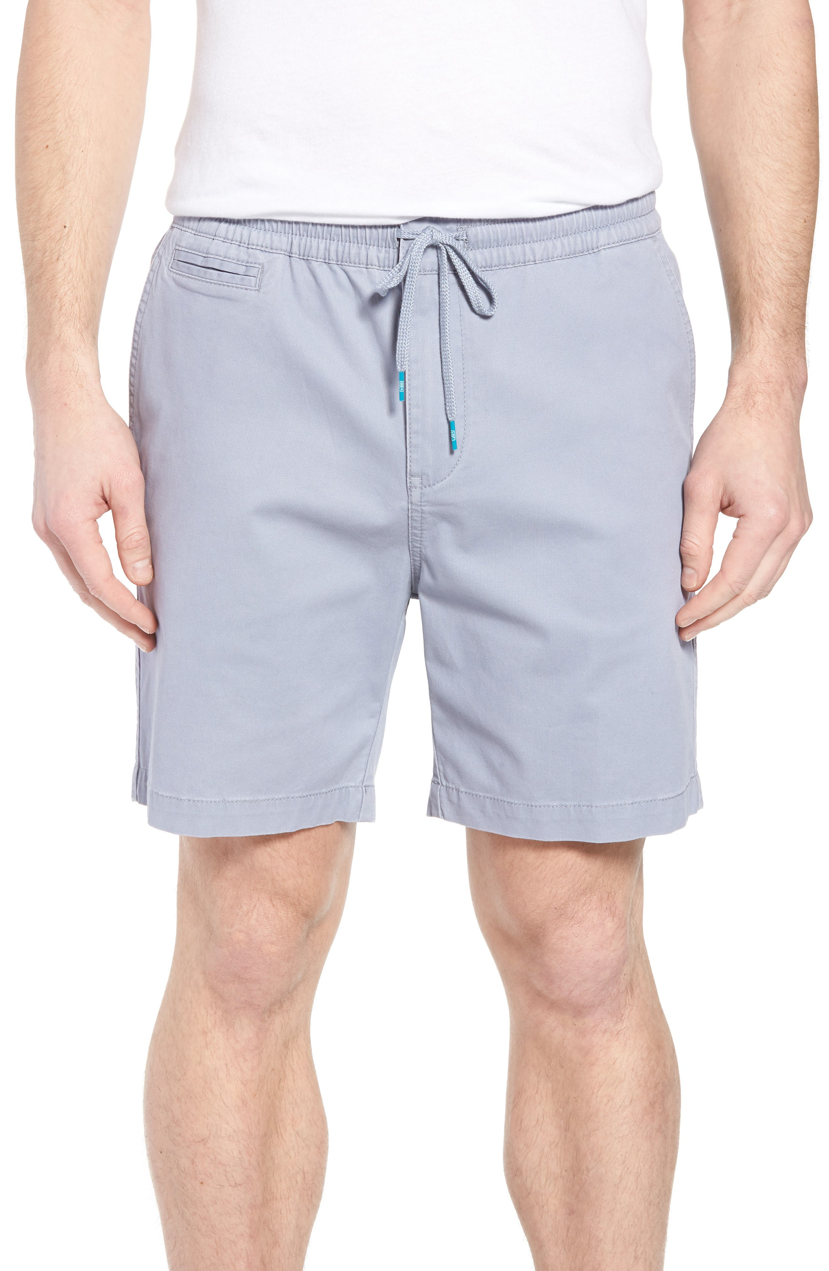 Drawstring Bedford Corduroy Shorts,                         Main,                         color, Silver Blue