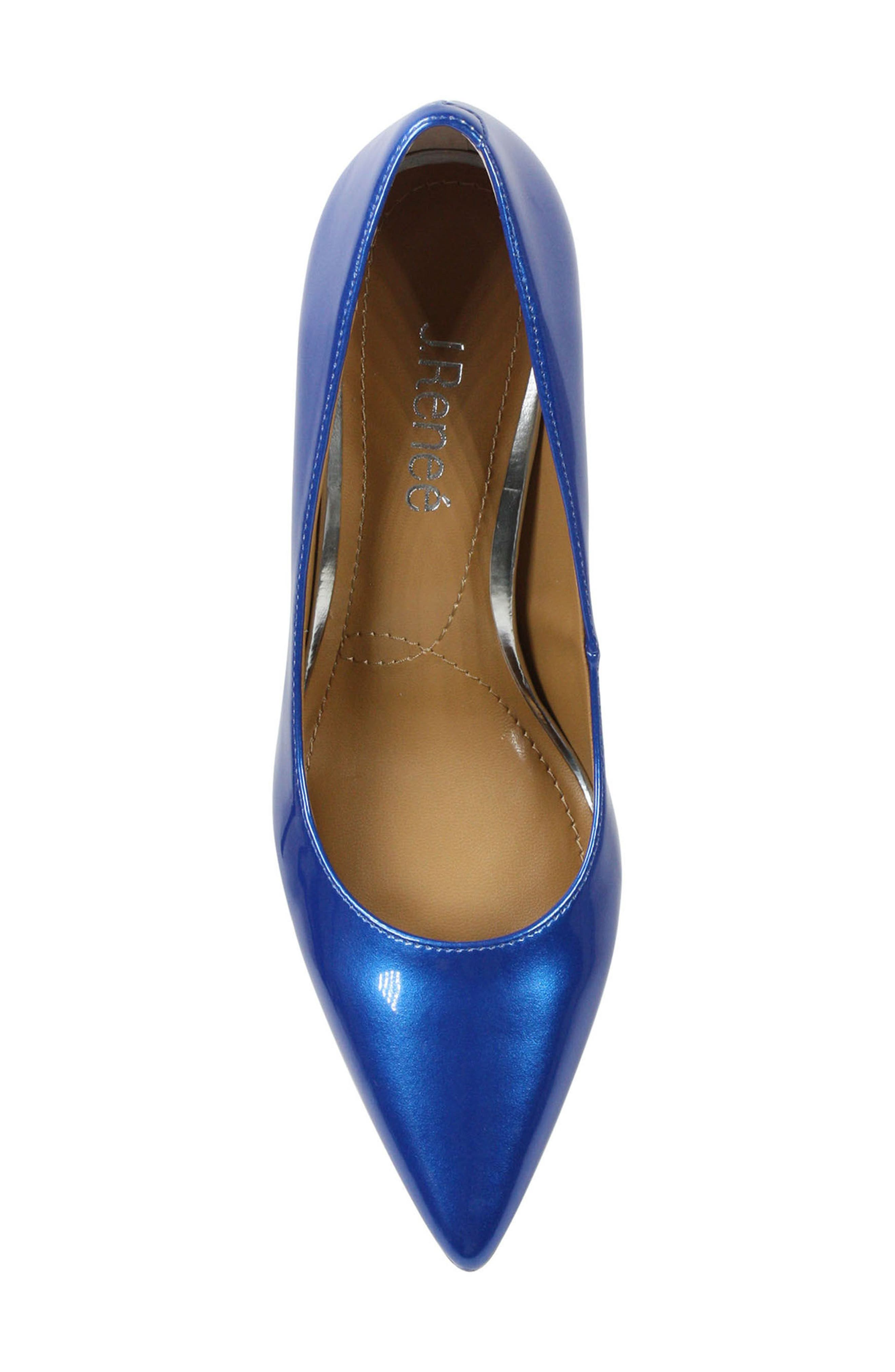 'Maressa' Pointy Toe Pump,                             Alternate thumbnail 5, color,                             Blue Patent