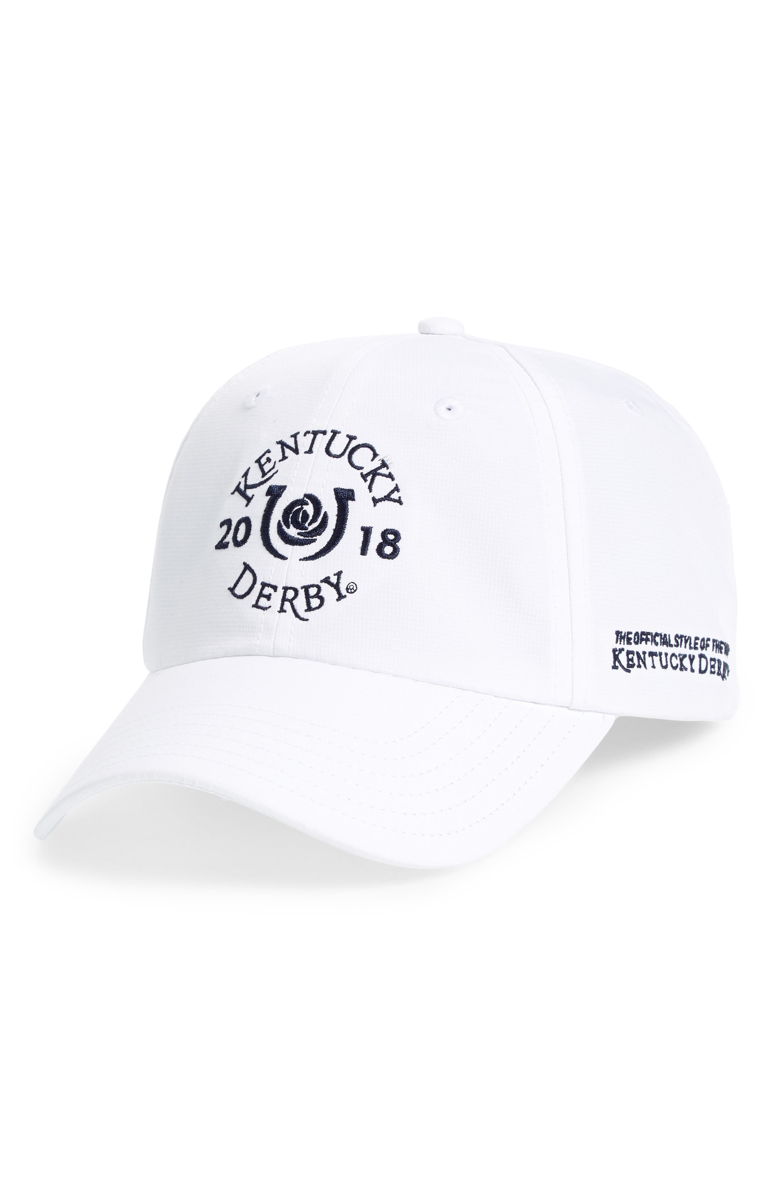 2018 Kentucky Derby<sup>®</sup> Garland of Roses Cap,                             Main thumbnail 1, color,                             White Cap