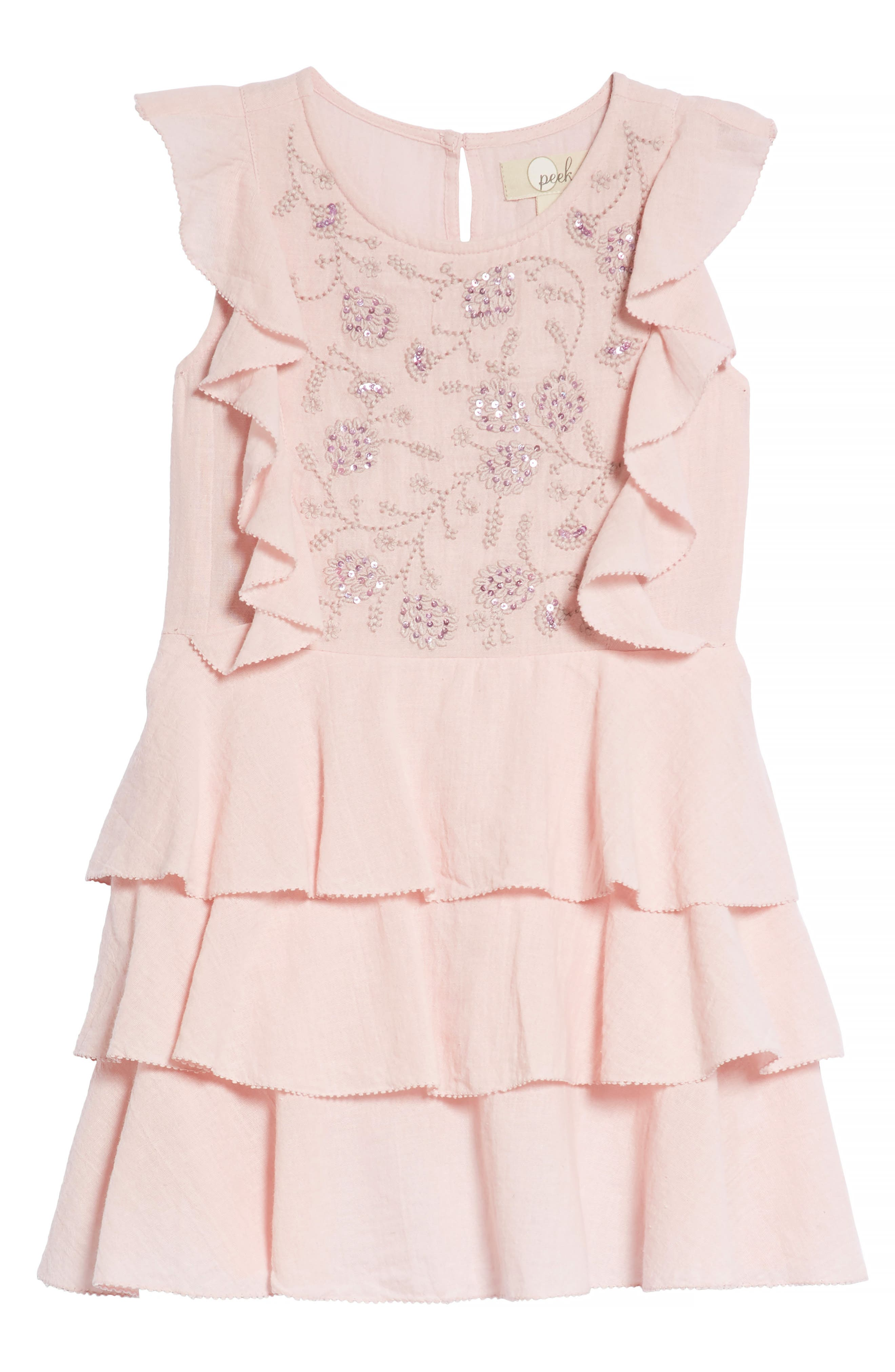 Madeline Tiered Dress,                         Main,                         color, Blush