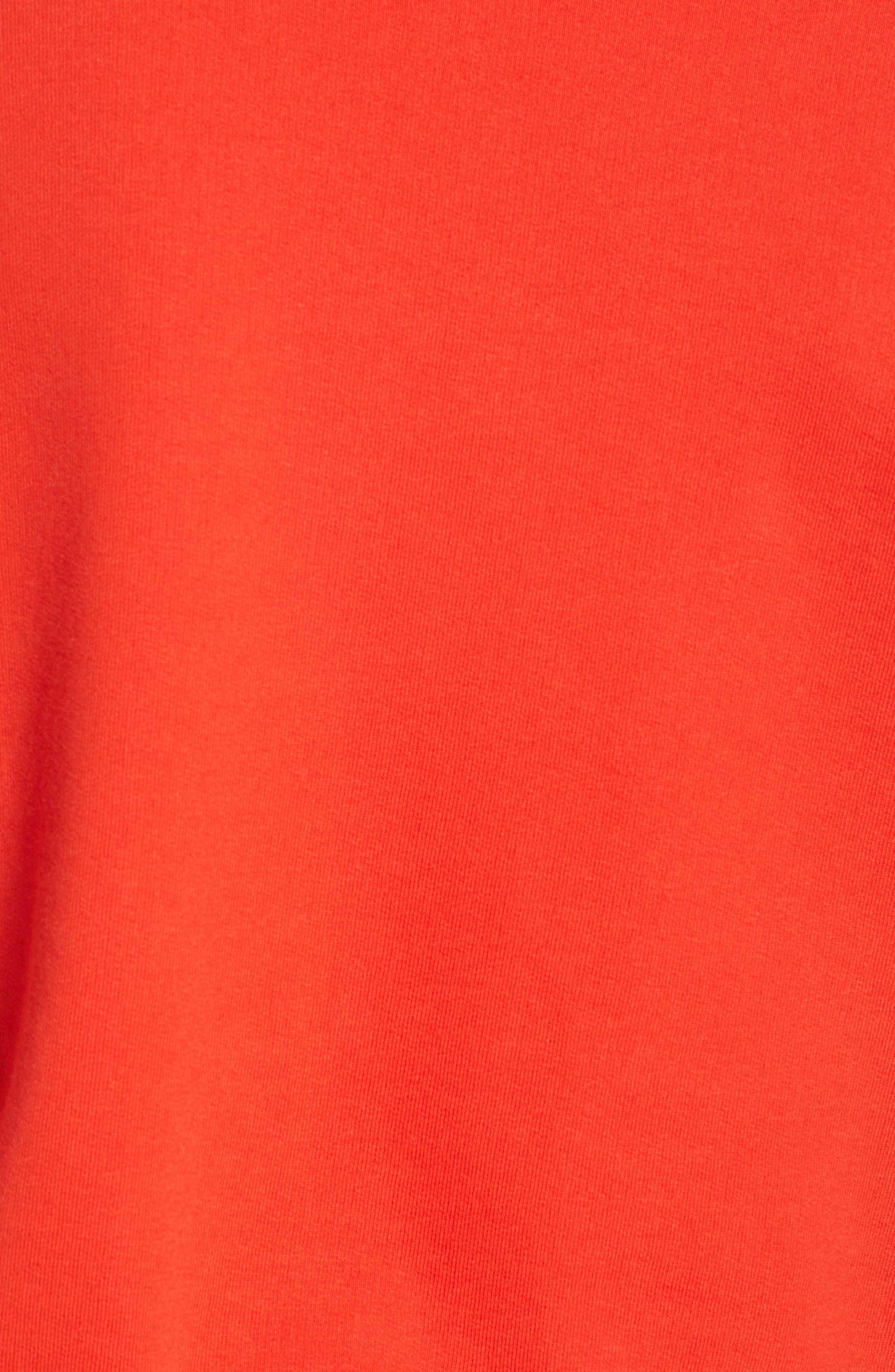 Stripe Half Zip Hoodie,                             Alternate thumbnail 6, color,                             City Rouge