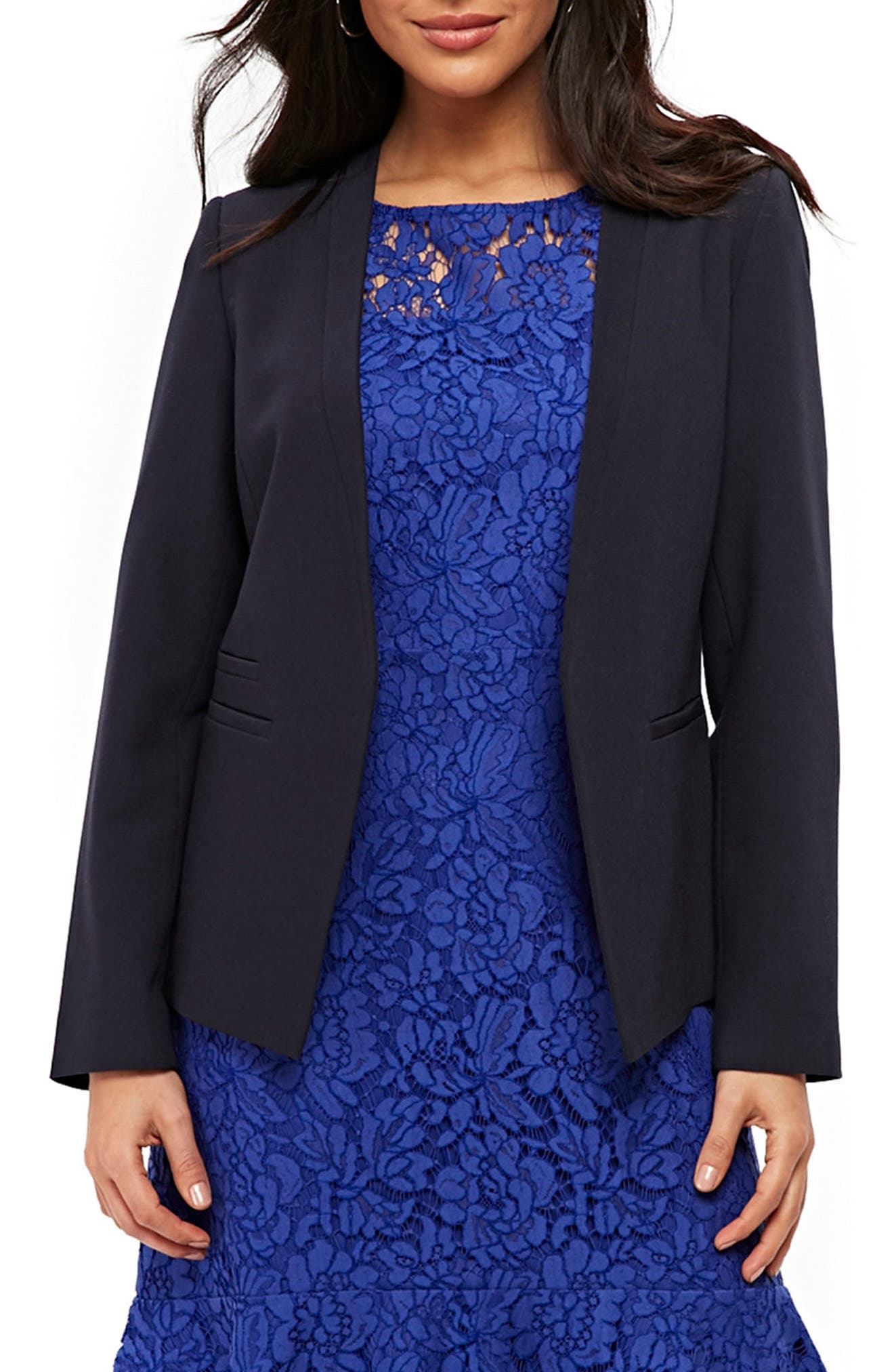 Giglio Edge to Edge Jacket,                             Main thumbnail 1, color,                             Navy Blue