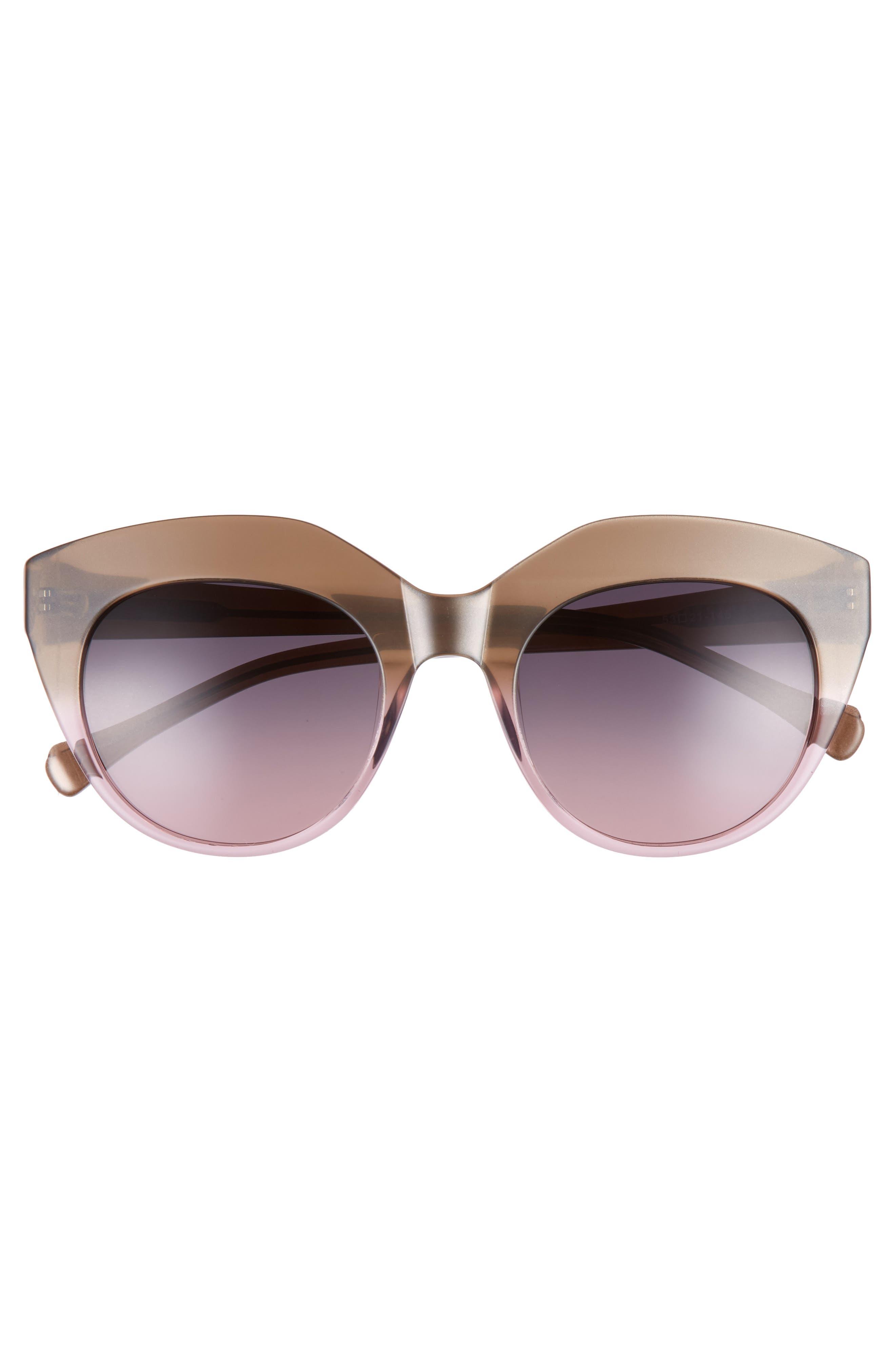 Tamika 53mm Polarized Sunglasses,                             Alternate thumbnail 3, color,                             Dessert/ Berry