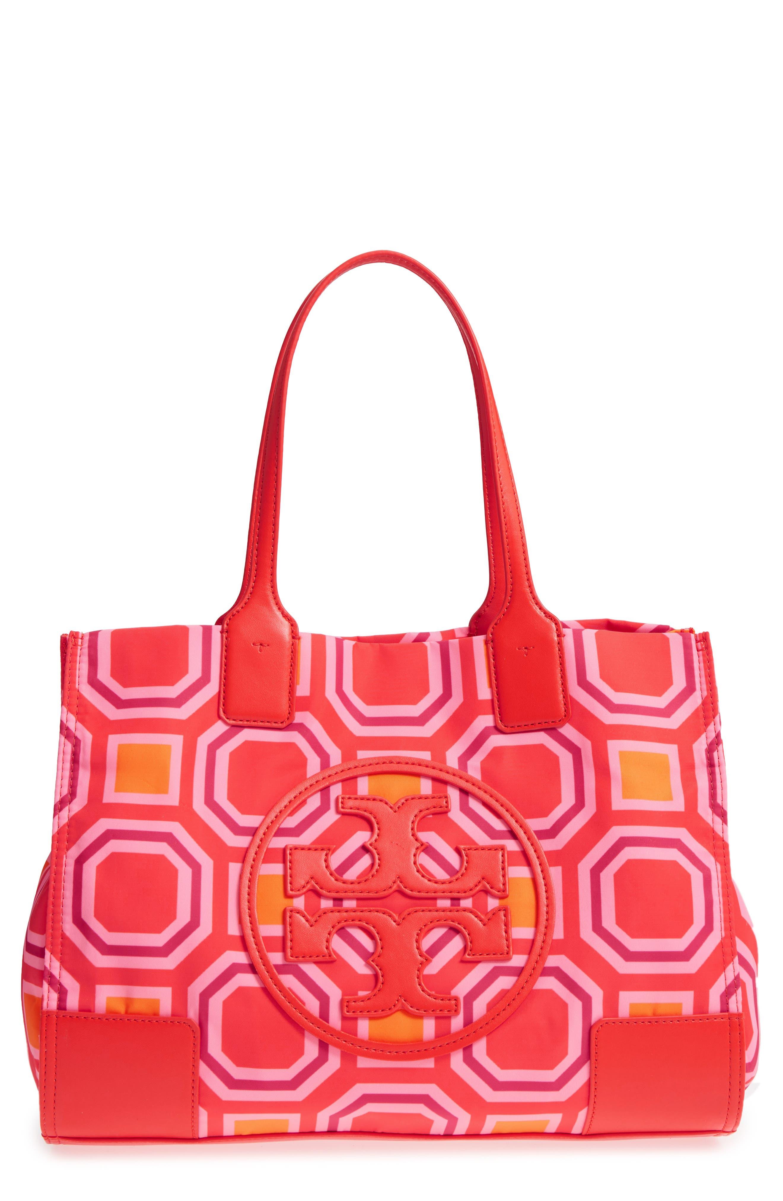 2258d65961b8 TORY BURCH Mini Ella Octagon Print Nylon Tote - Pink