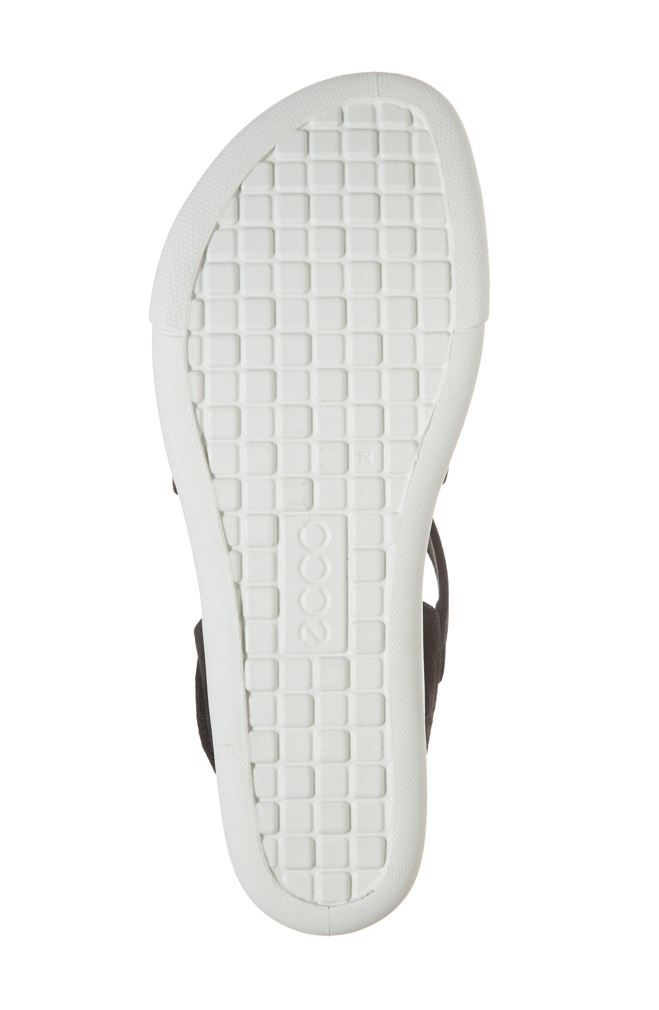Damara Cross-Strap Sandal,                             Alternate thumbnail 6, color,                             Black Leather