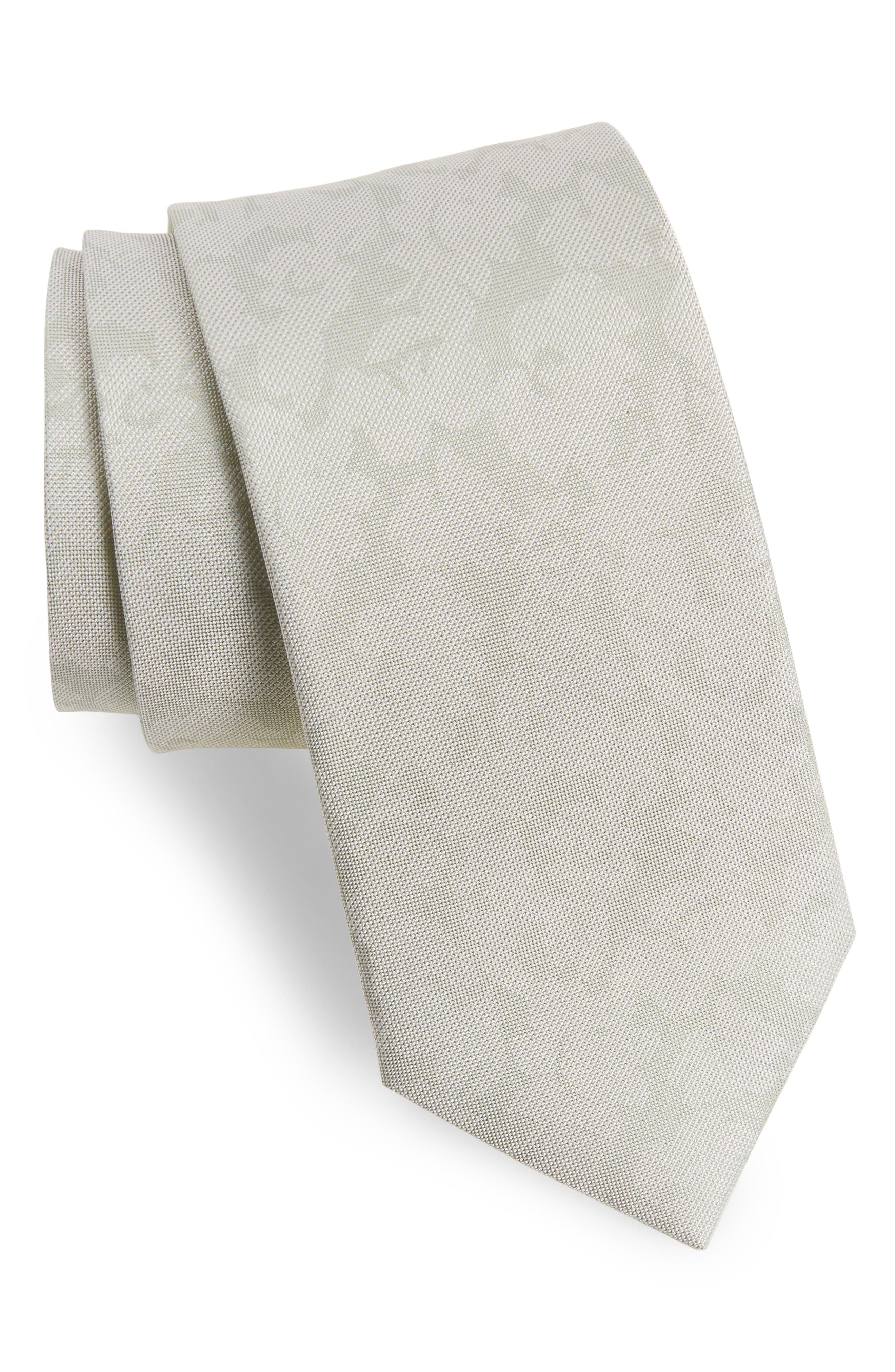 Refinado Floral Silk Tie,                         Main,                         color, Spearmint