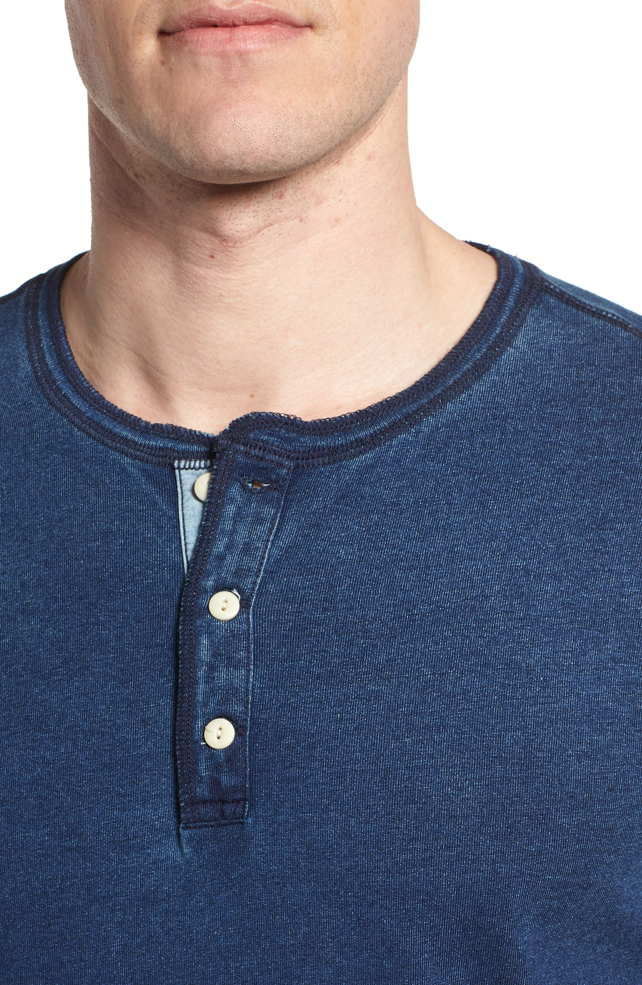 Alternate Image 4  - AG Clyde Slim Fit Cotton Henley