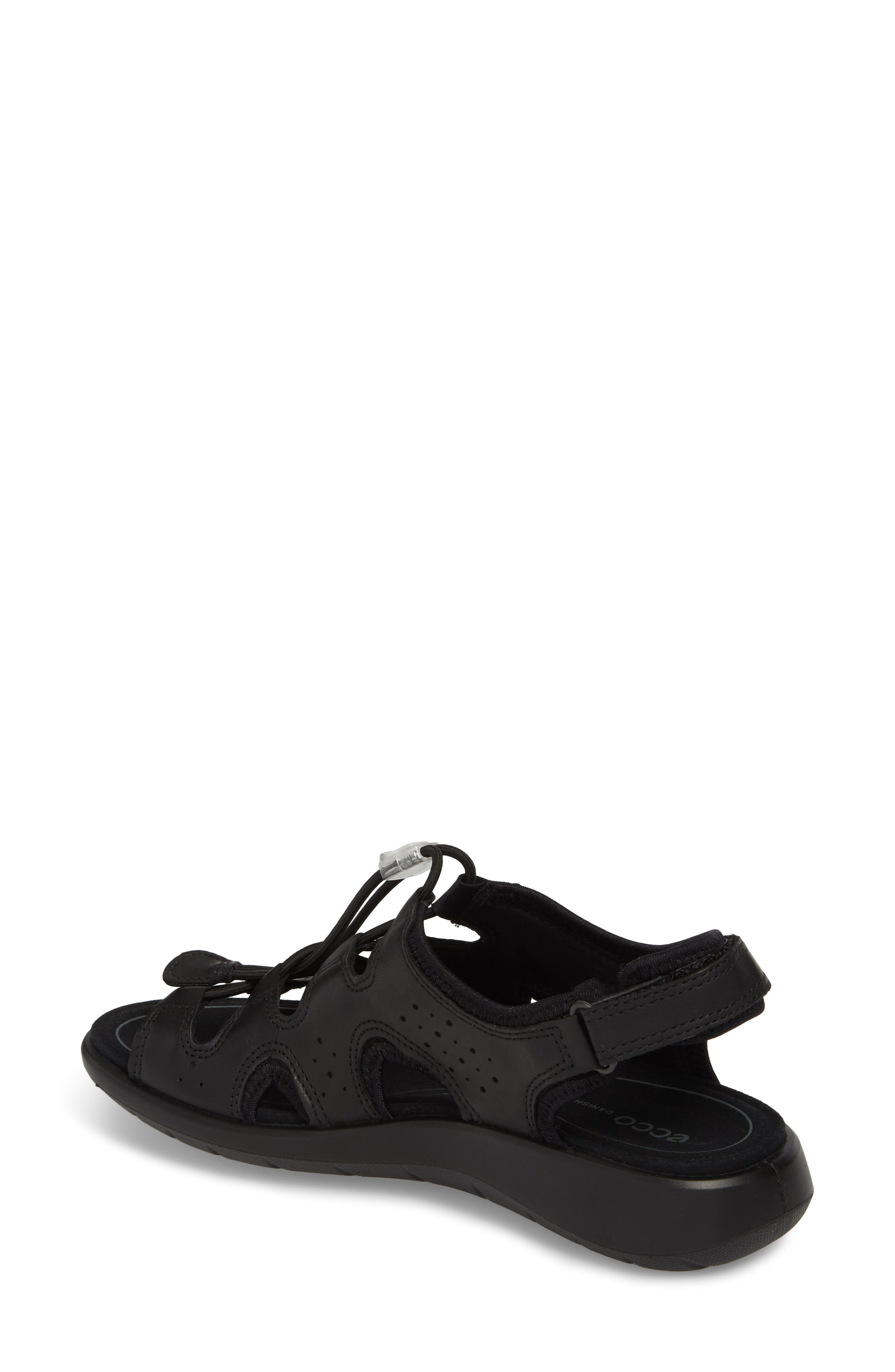 Bluma Toggle Sandal,                             Alternate thumbnail 2, color,                             Black Leather