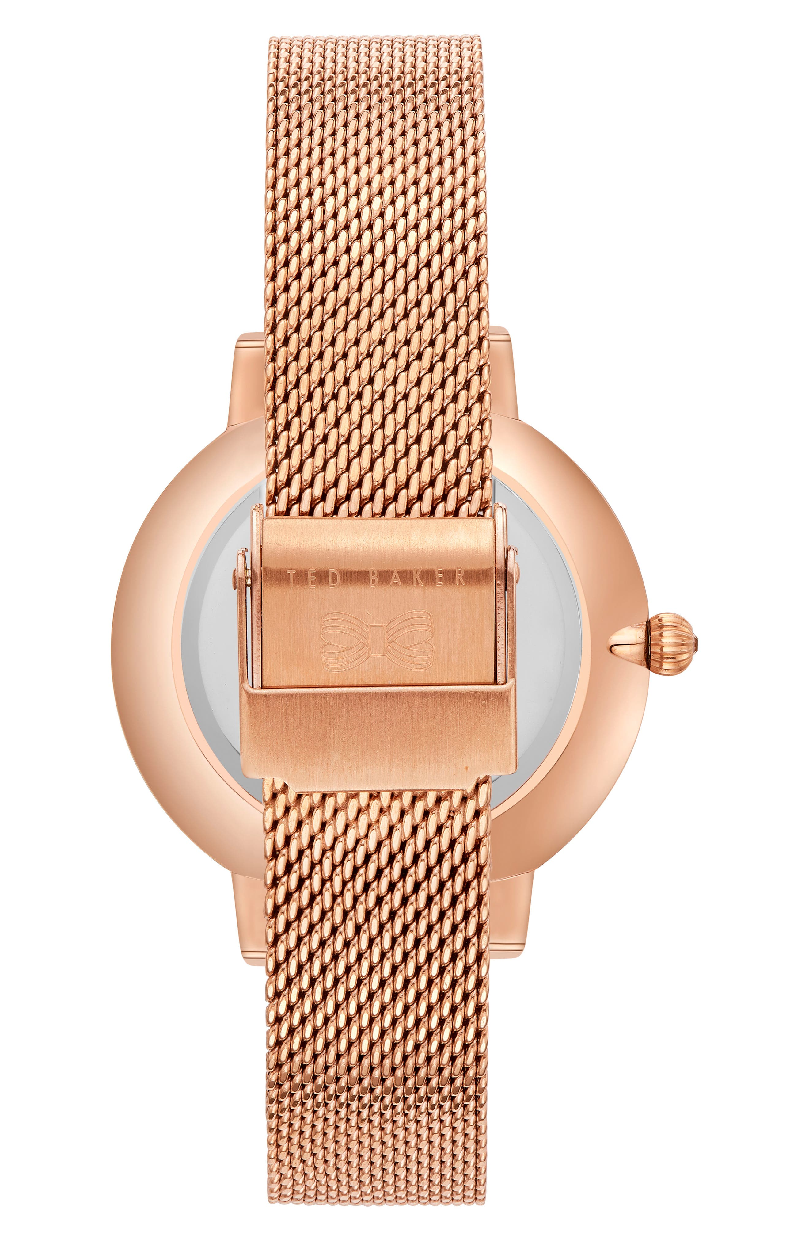 Kate Mesh Strap Watch, 38mm,                             Alternate thumbnail 2, color,                             Rose Gold/ Mop/ Rose Gold