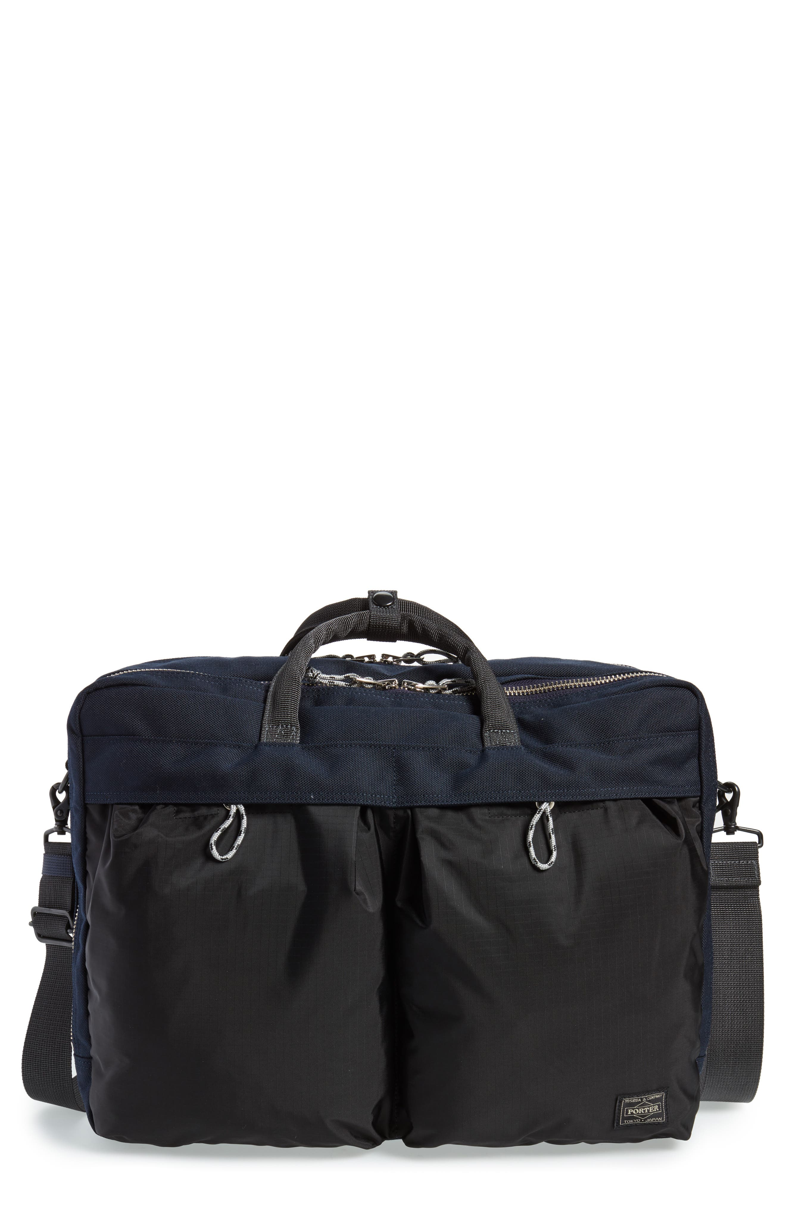 Porter-Yoshida & Co. Hype Convertible Briefcase,                             Main thumbnail 1, color,                             Navy/ Black