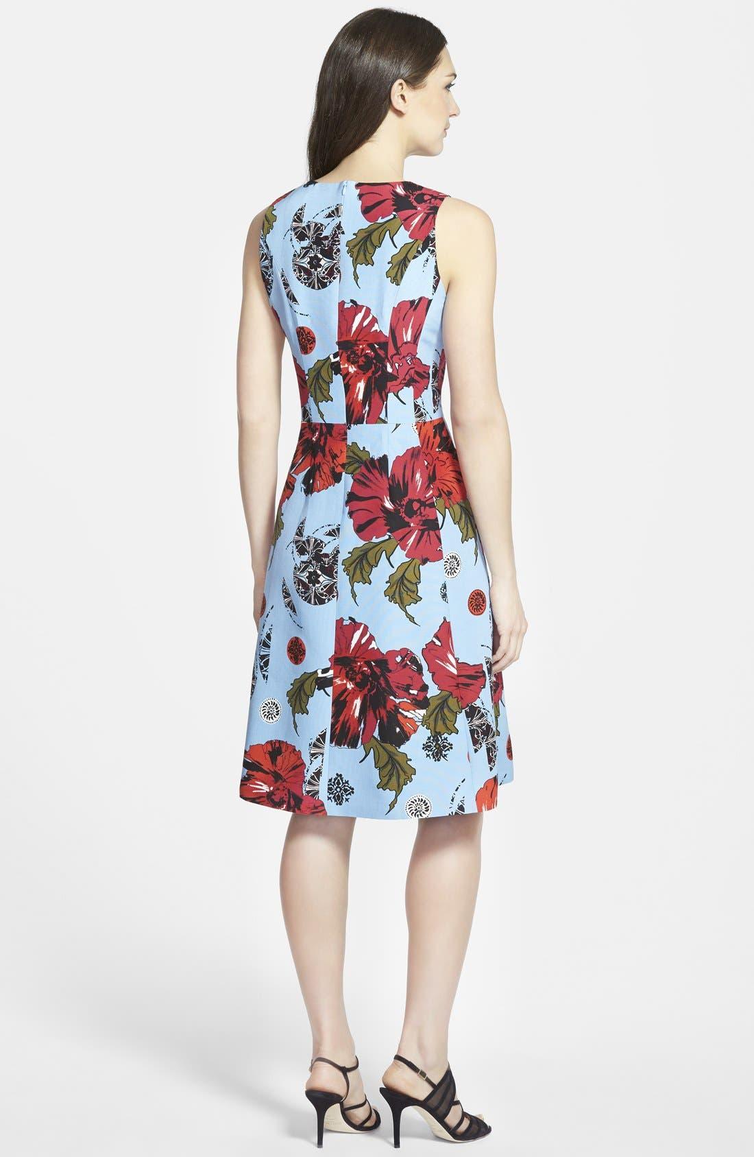Alternate Image 2  - Classiques Entier® Fit & Flare Cotton & Silk Dress