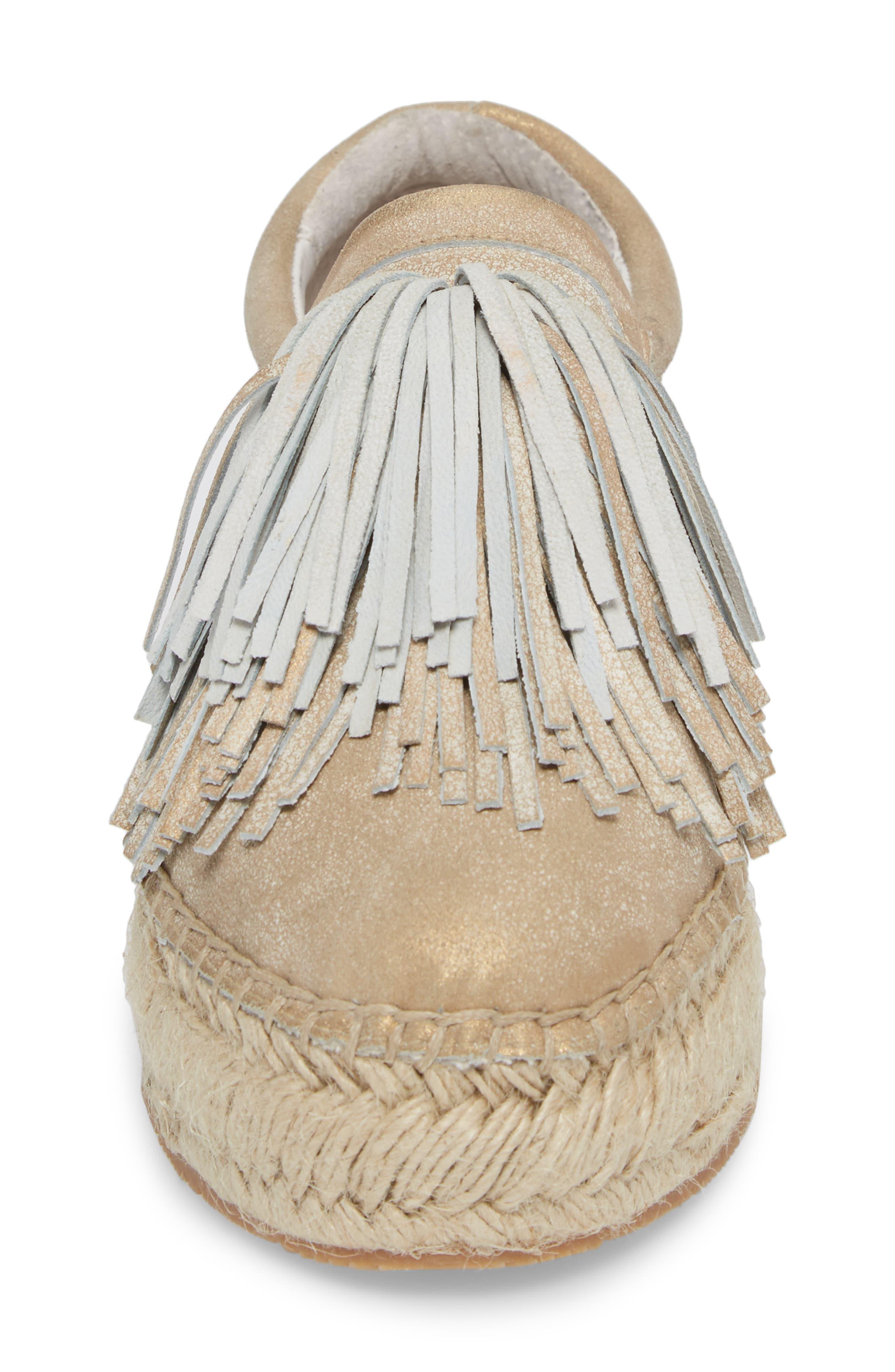 Raoul Espadrille Sneaker,                             Alternate thumbnail 4, color,                             Bronze Leather