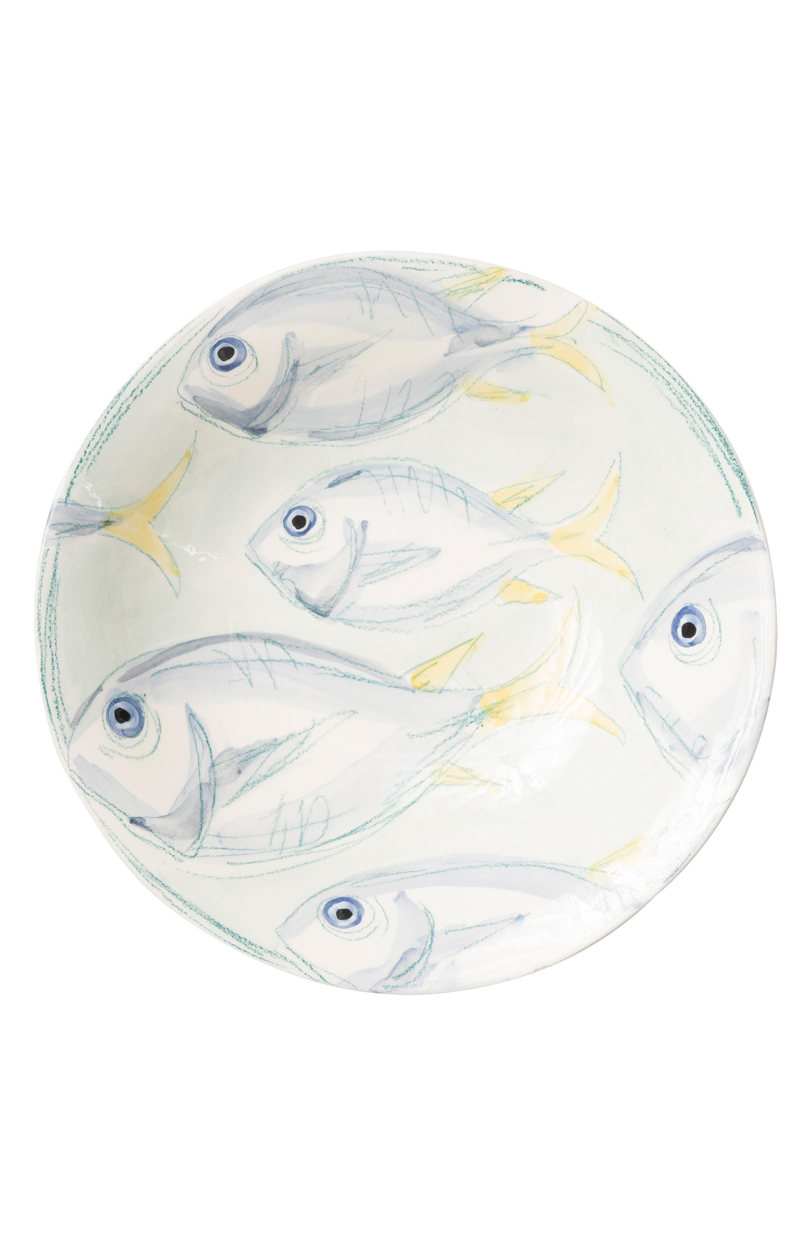 Pescatore Large Serving Bowl,                             Main thumbnail 1, color,                             White