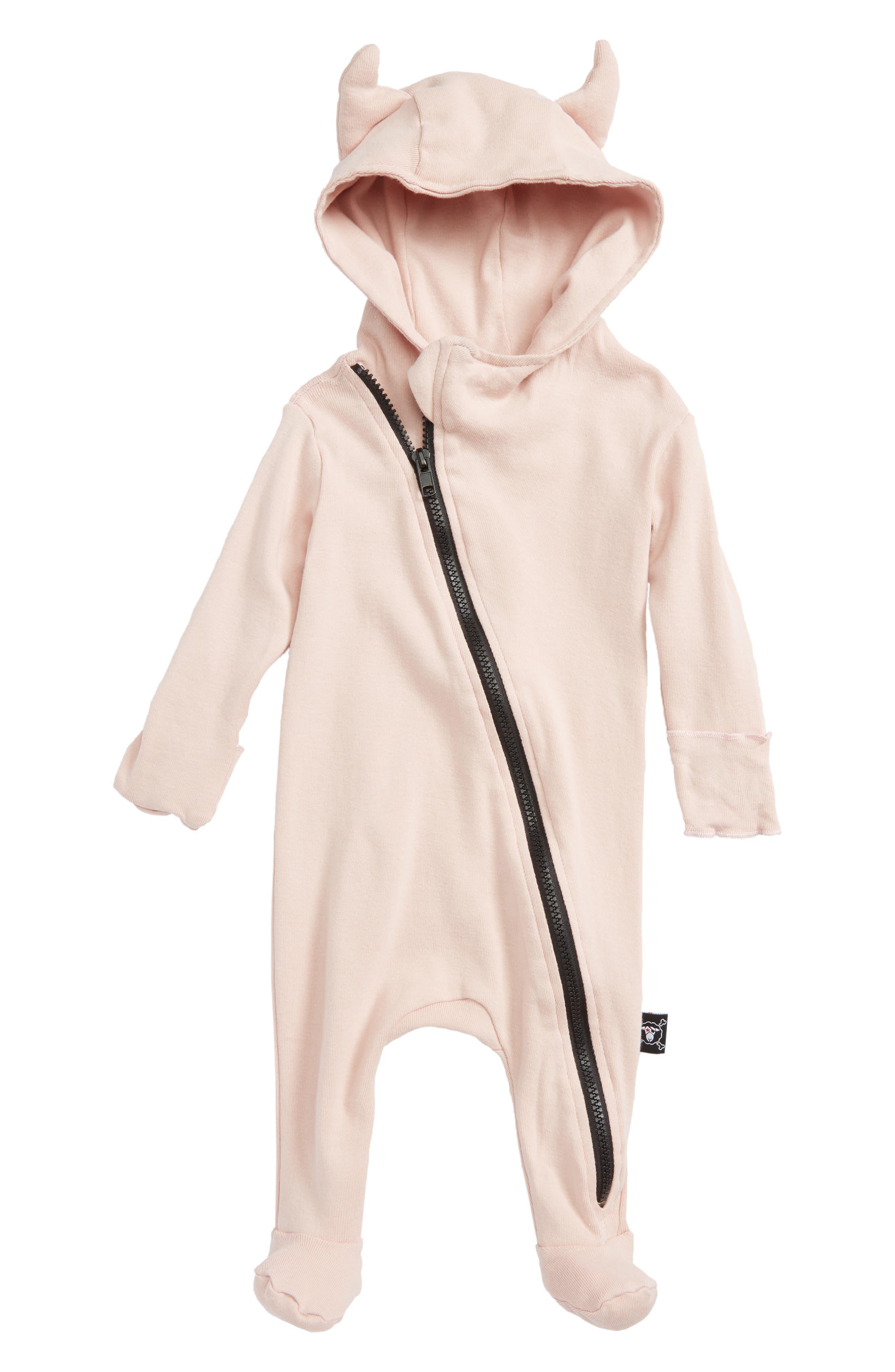 Nununu Viking Hooded Footie (Baby Girls)