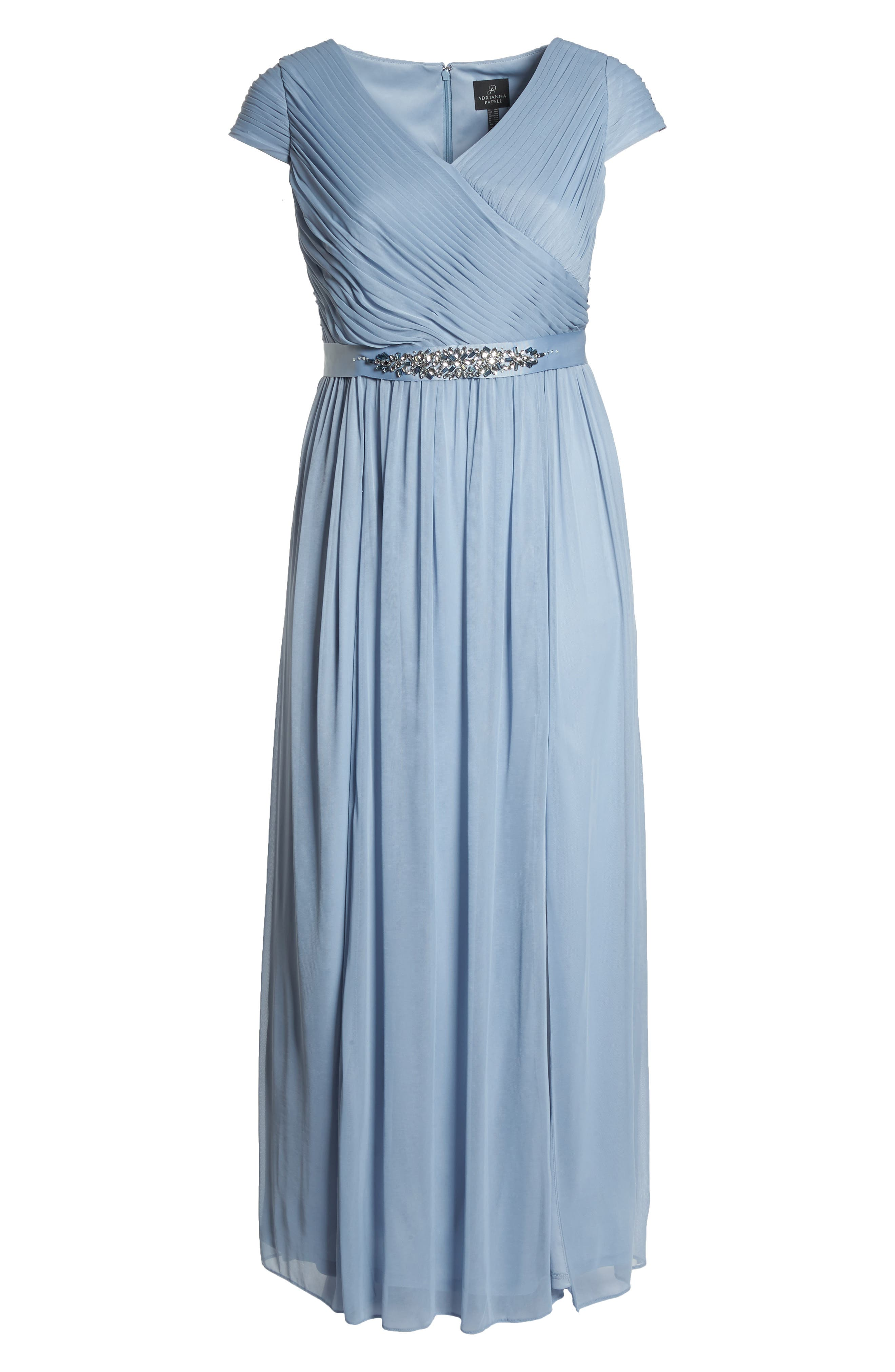Tulle Gown,                             Alternate thumbnail 6, color,                             Dusty Periwinkle