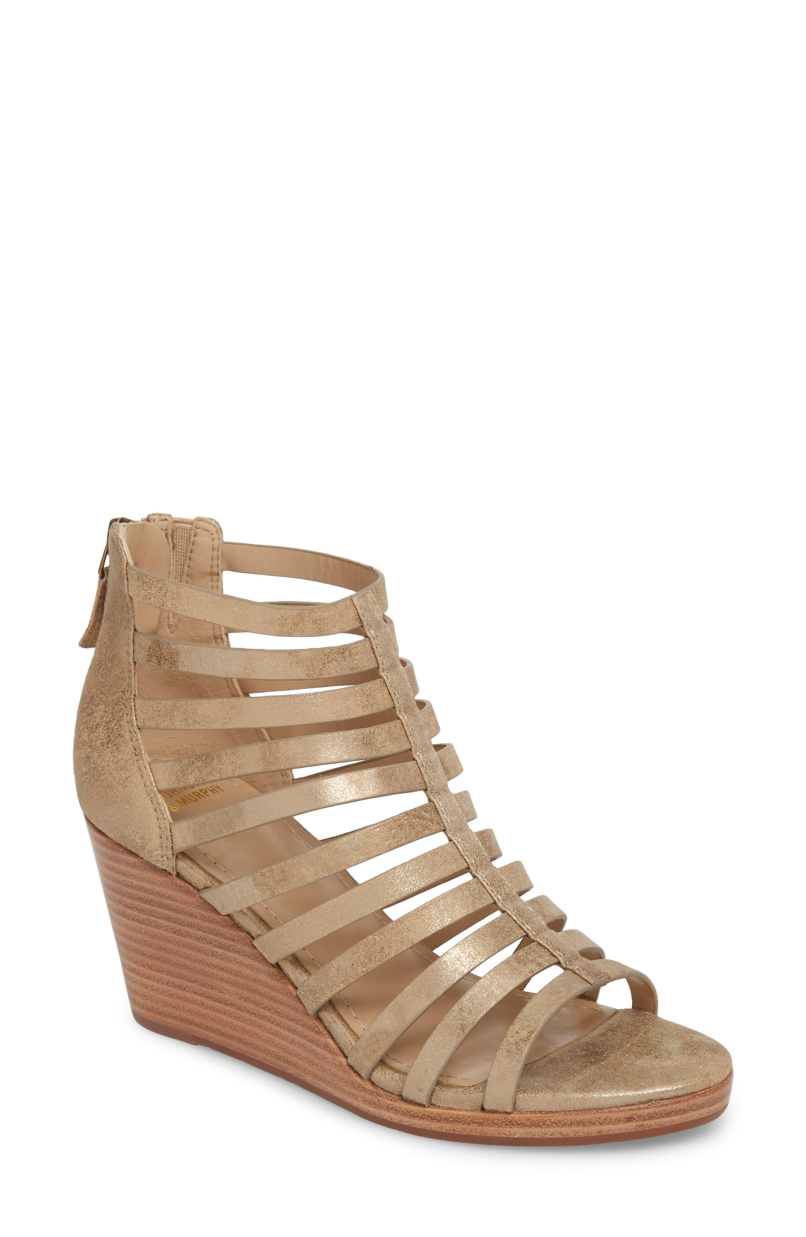 Johnston & Murphy Geneva Strappy Wedge Sandal (Women)