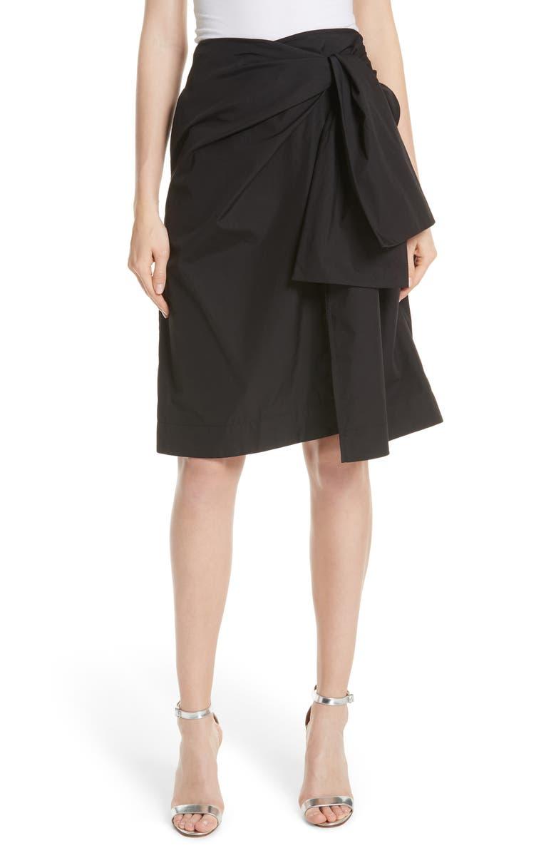 Tie Front Wrap Skirt