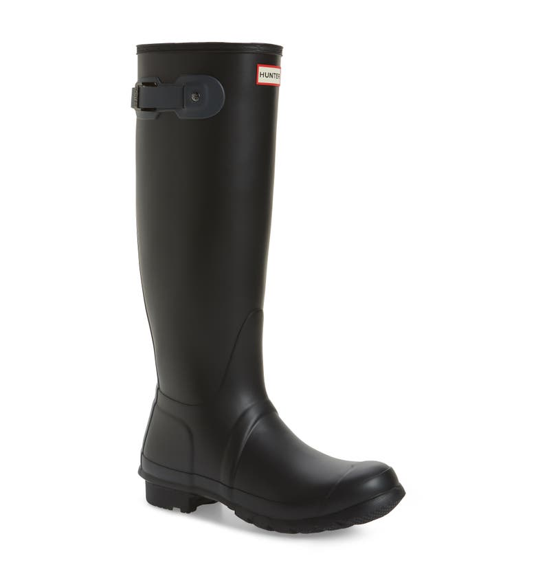 'Original Tall' Rain Boot, Main, color, Black/ Dark Slate