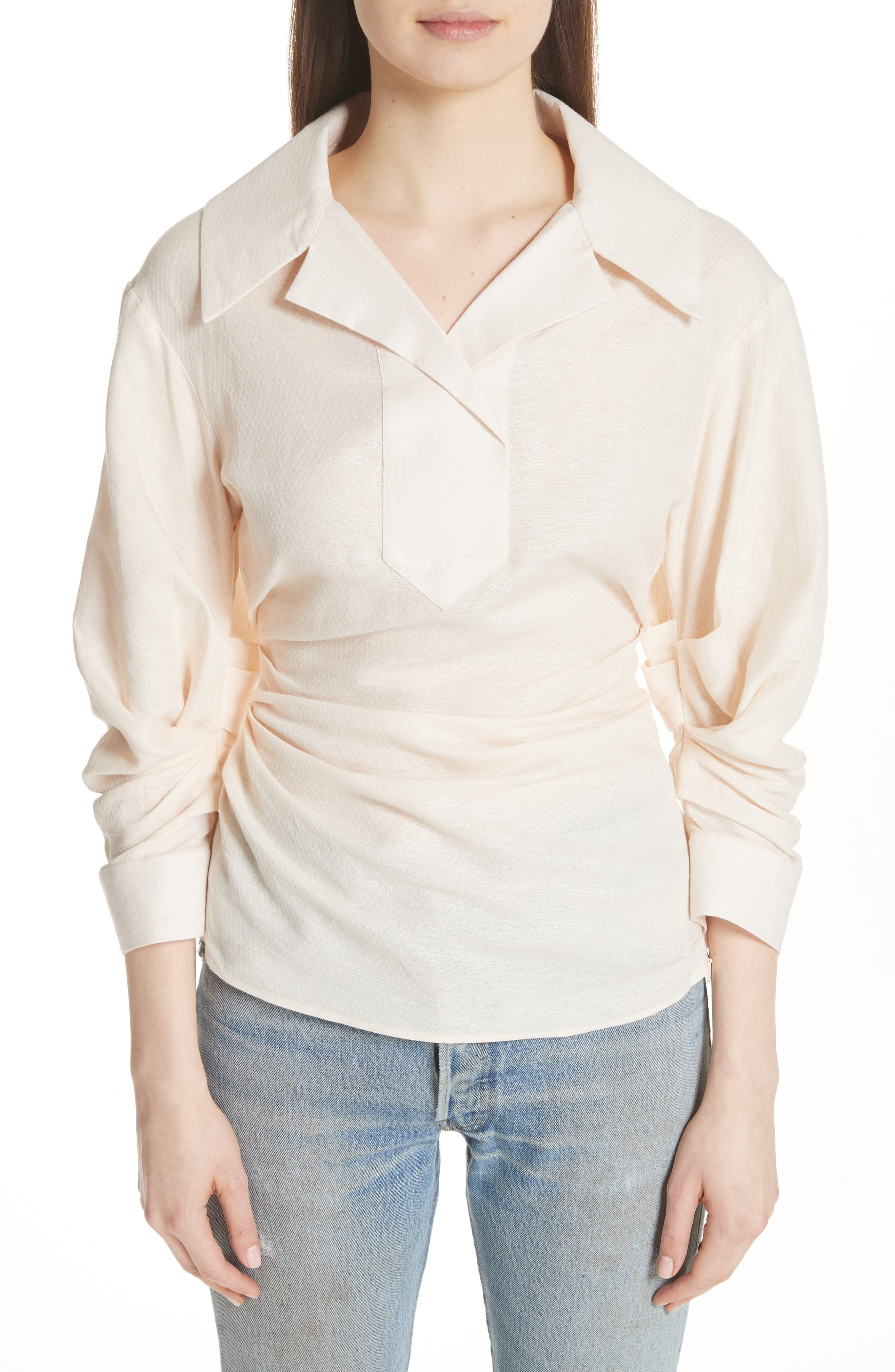 La Chemise Maceio Shirt,                             Main thumbnail 1, color,                             Beige