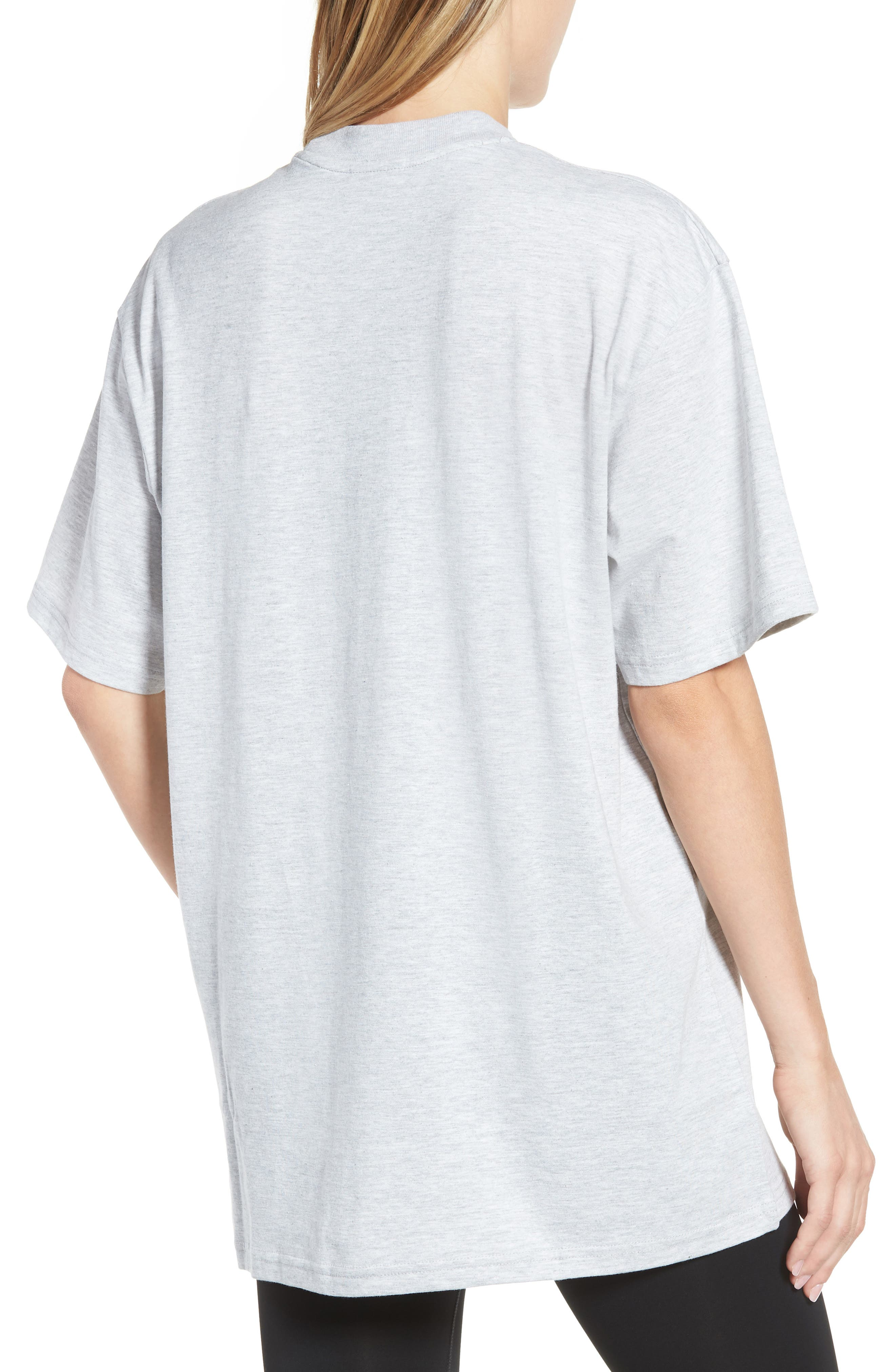 Dotted Logo Oversized Tee,                             Alternate thumbnail 2, color,                             Grey Marl