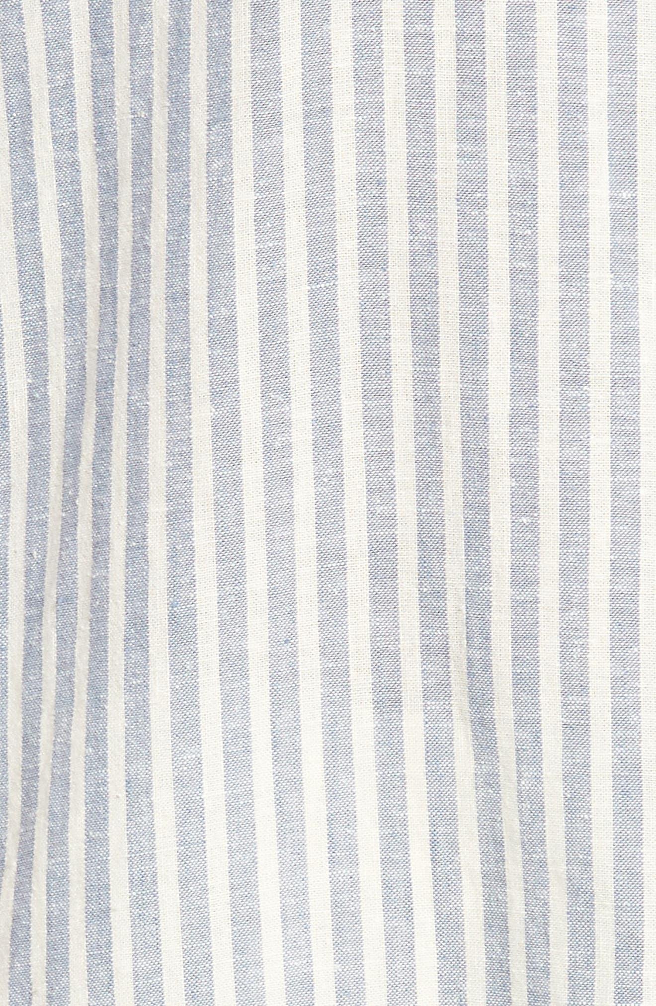 Stripe Tunic Top,                             Alternate thumbnail 6, color,                             Chambray