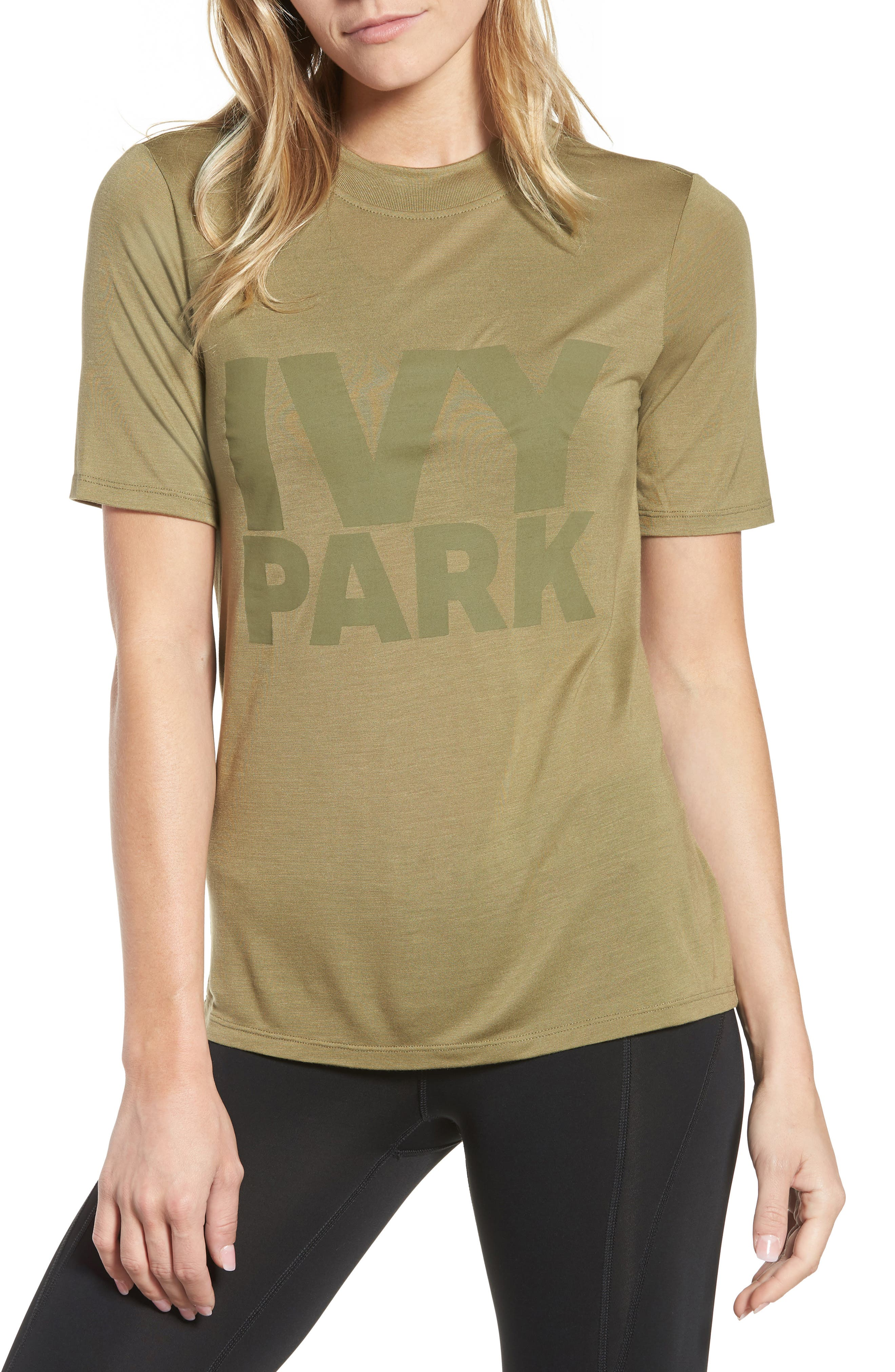 Programme Fitted Logo Tee,                         Main,                         color, Moss