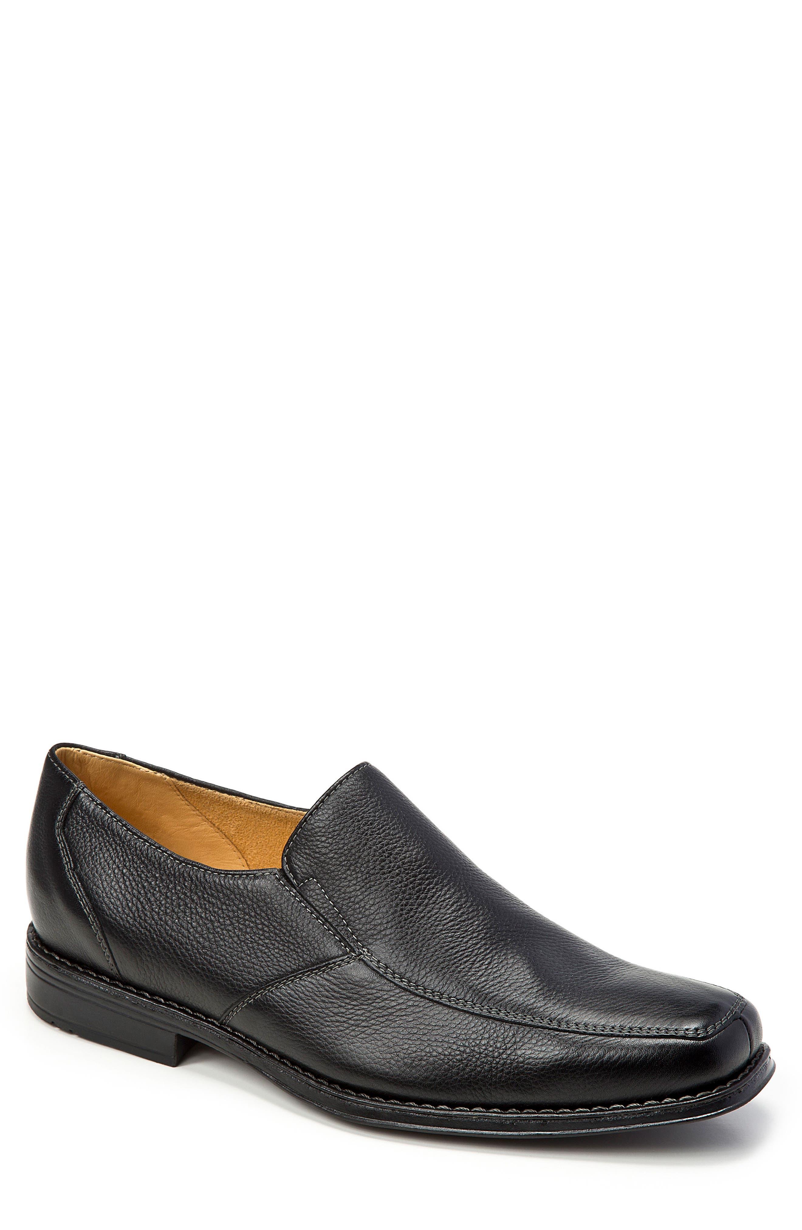 Renzo Square Toe Slip-On,                         Main,                         color, Black