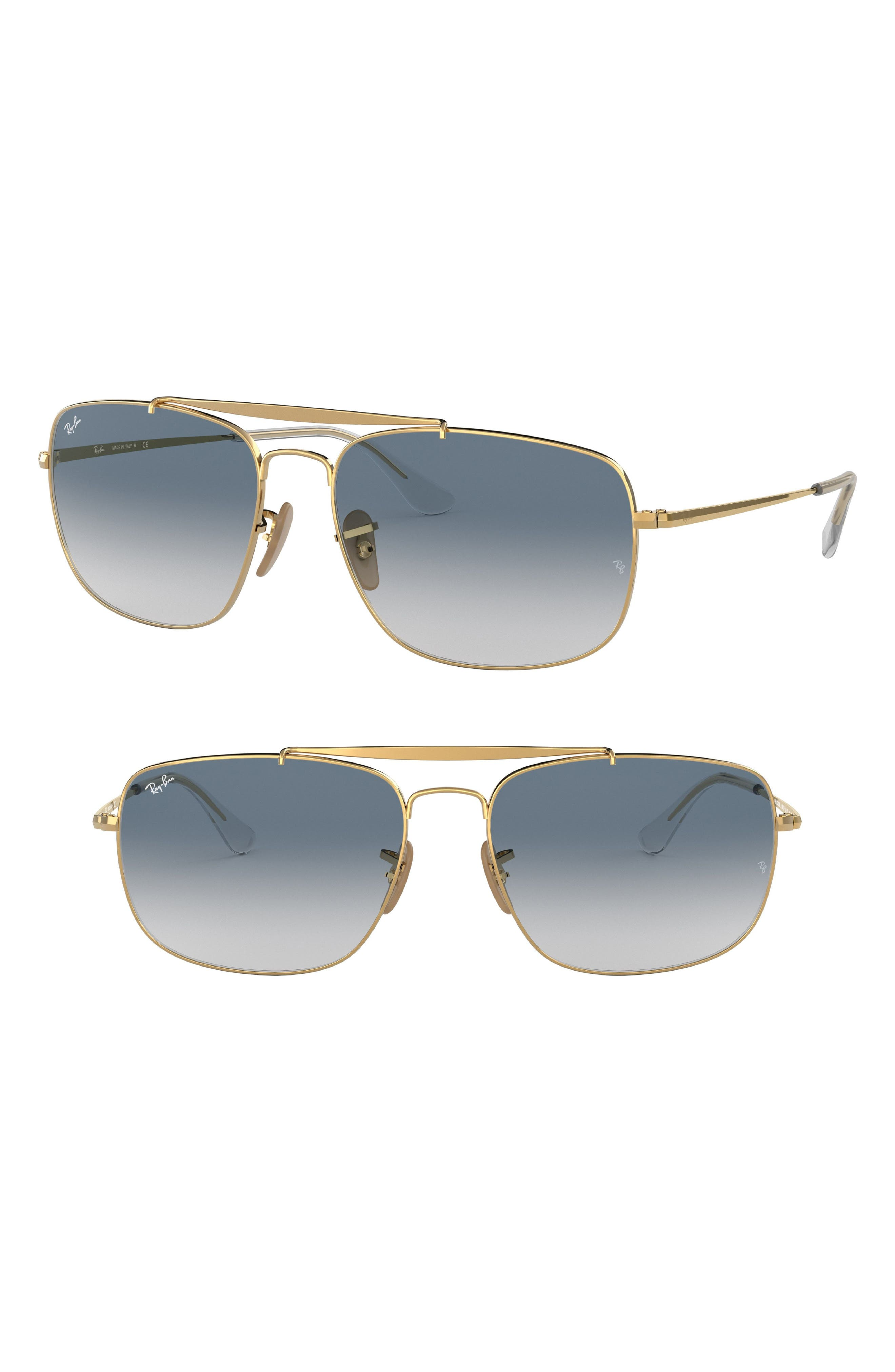 The Colonel 61mm Aviator Sunglasses,                             Main thumbnail 1, color,                             Gold