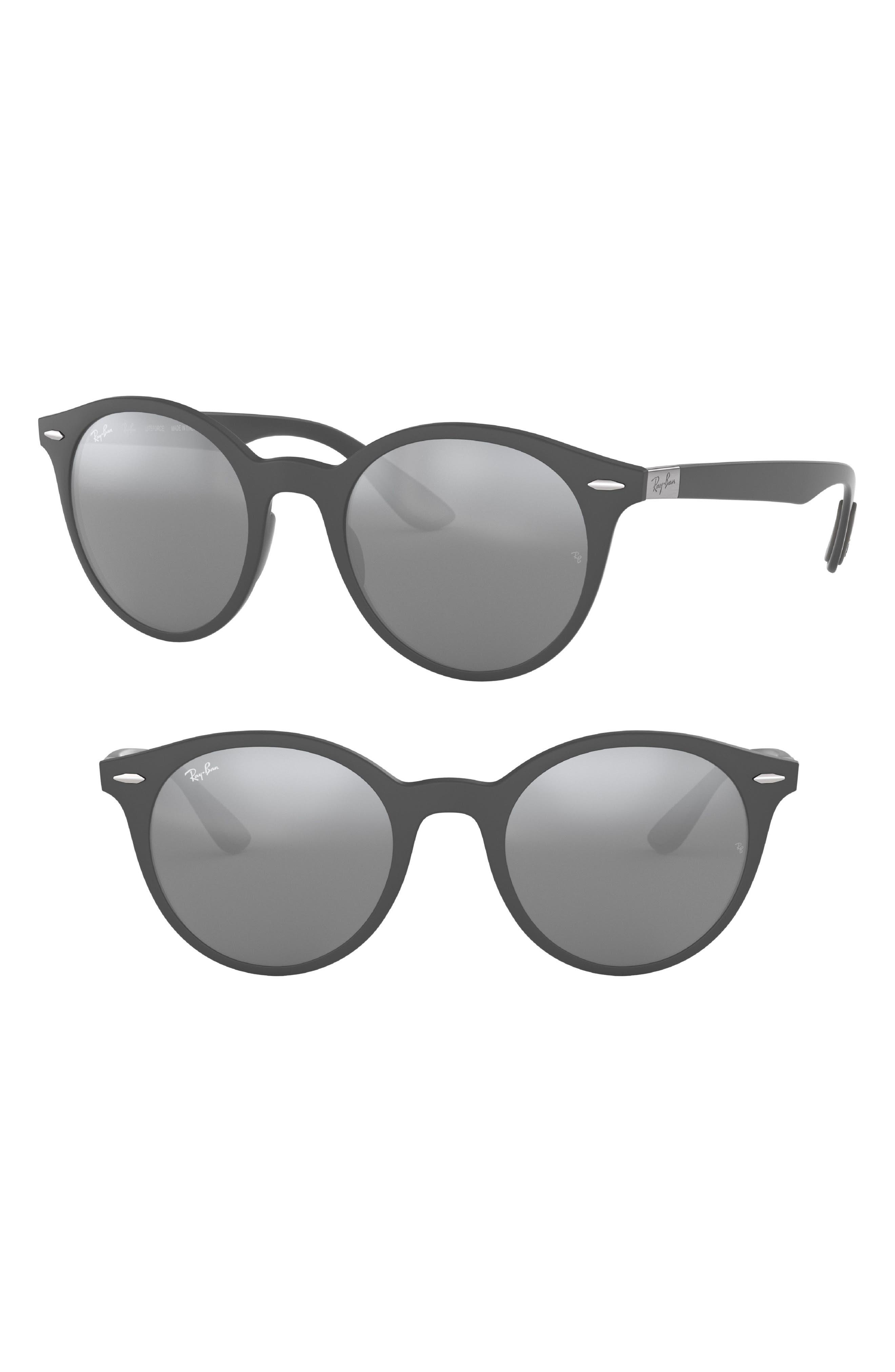 Phantos 50mm Mirrored Sunglasses,                             Main thumbnail 1, color,                             Dark Grey