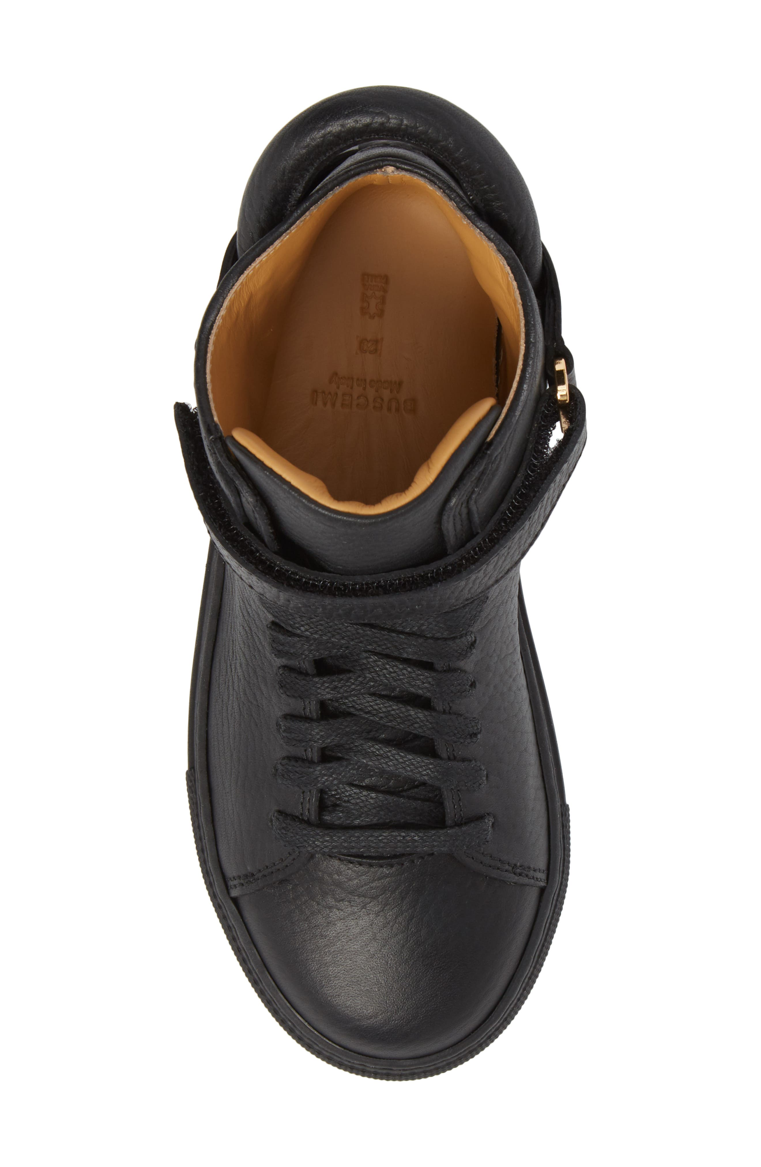 High Top Sneaker,                             Alternate thumbnail 5, color,                             Black
