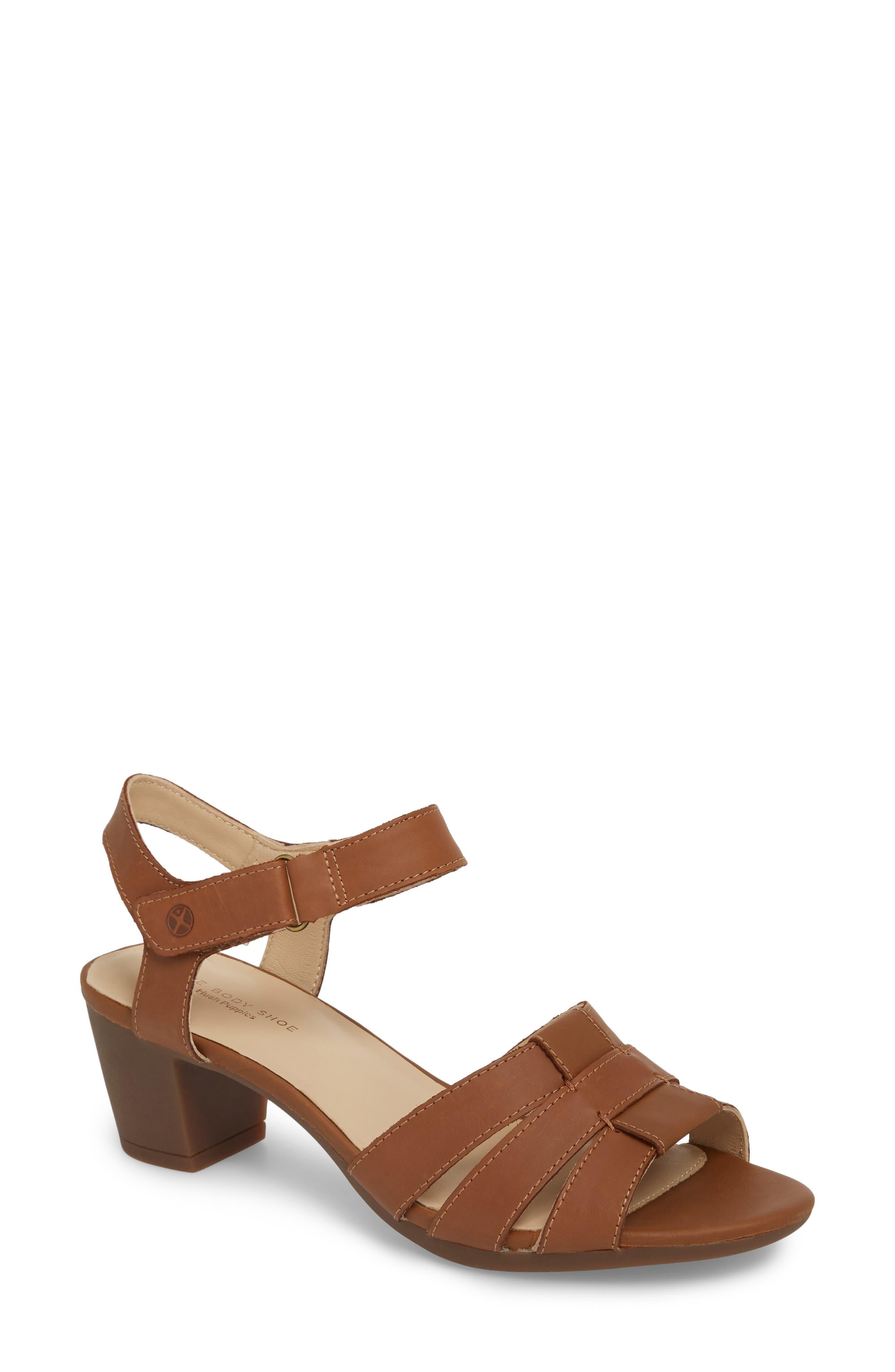 Masseter Quarter Strap Sandal,                             Main thumbnail 1, color,                             Tan Leather