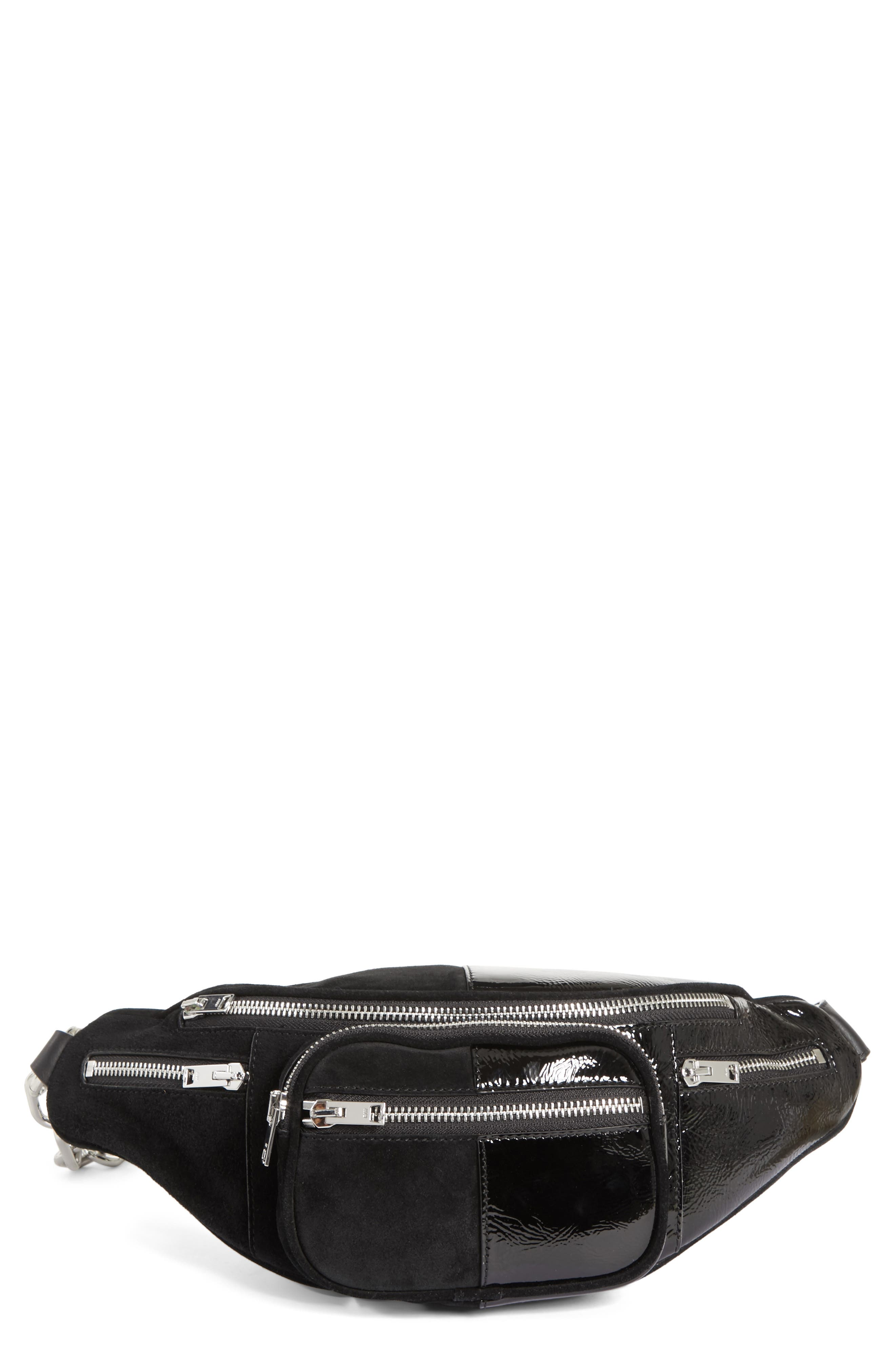 Attica Leather & Suede Fanny Pack - Black