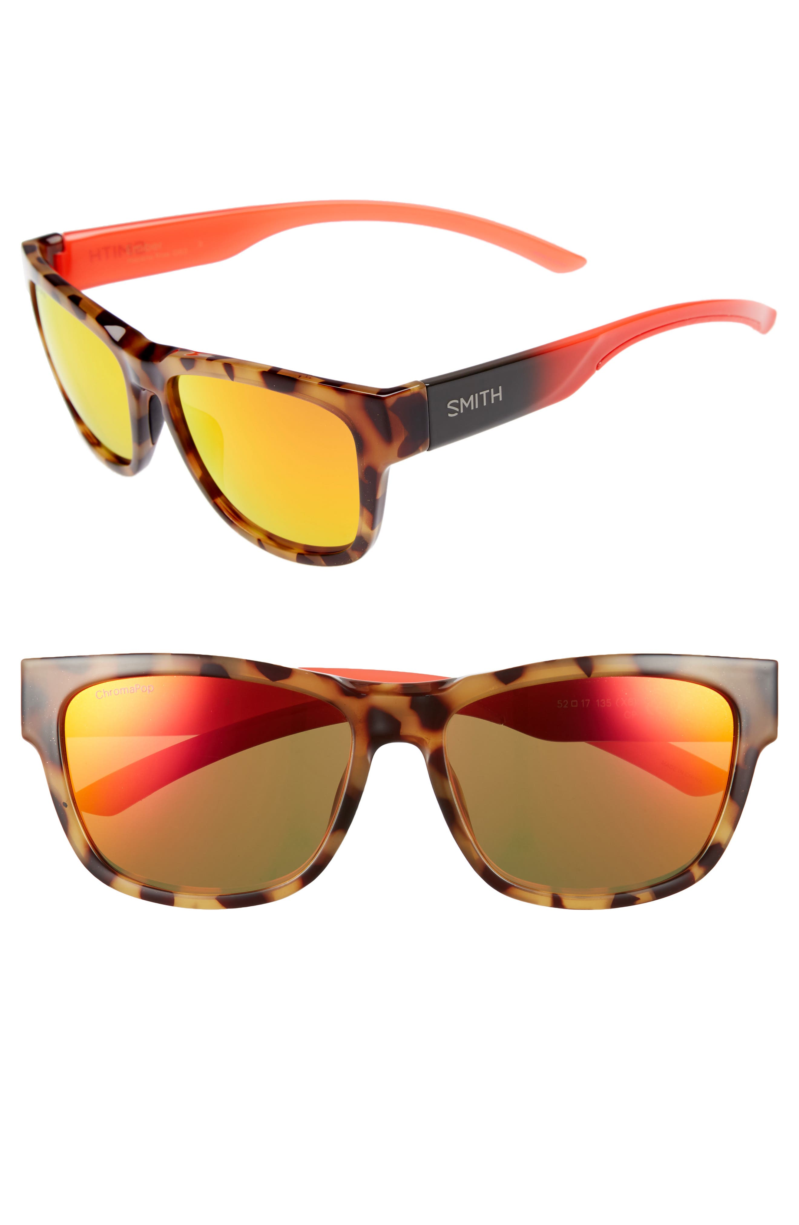 Ember 52mm ChromaPop<sup>™</sup> Sunglasses,                         Main,                         color, Havana Rise
