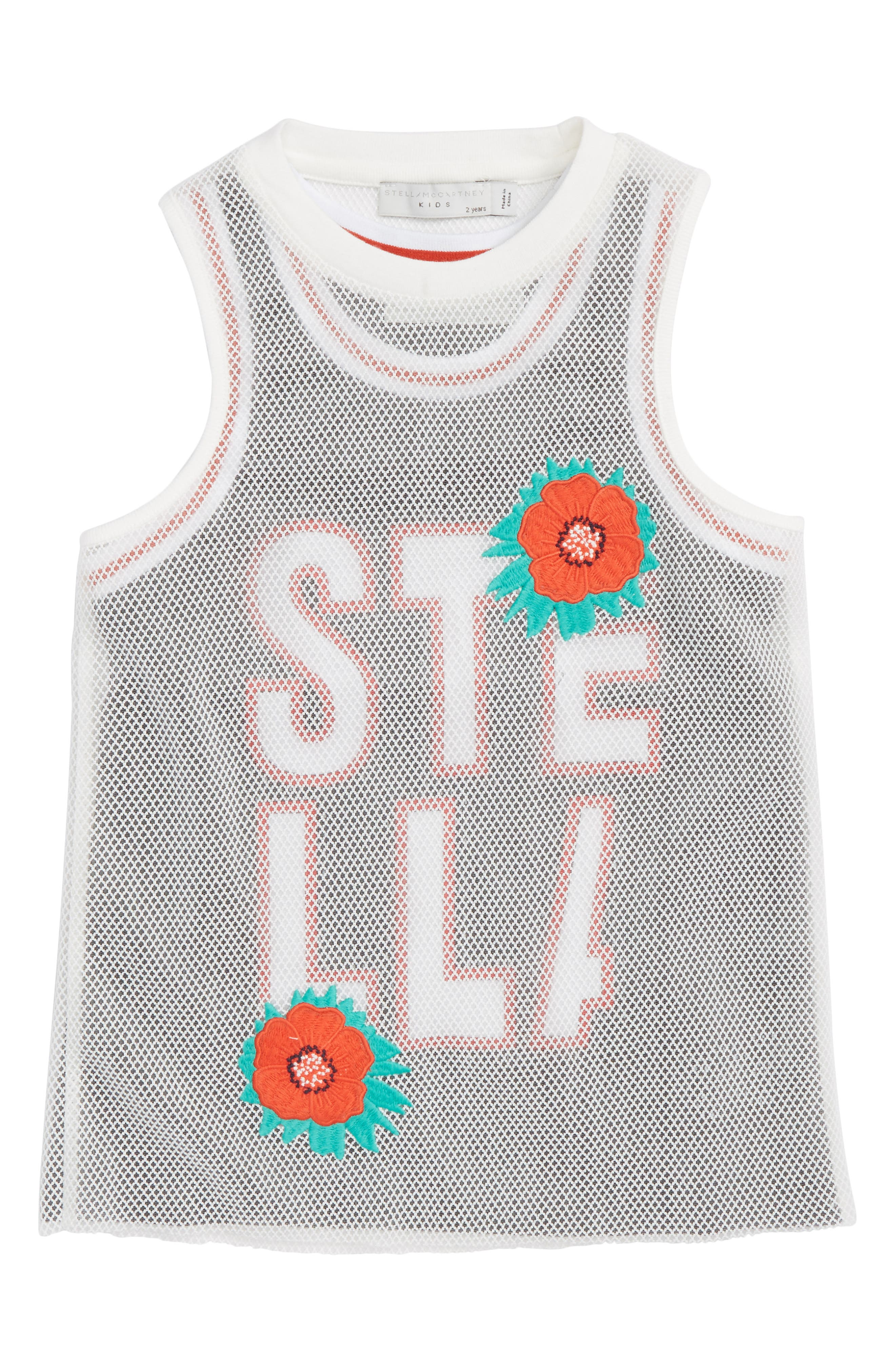 Stella McCartney Kids Corey Sporty Mesh Dress (Toddler Girls, Little Girls & Big Girls)