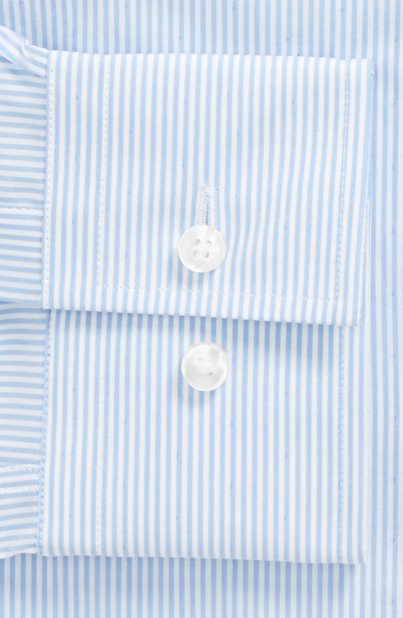 Jason Slim Fit Stripe Dress Shirt,                             Alternate thumbnail 2, color,                             Blue