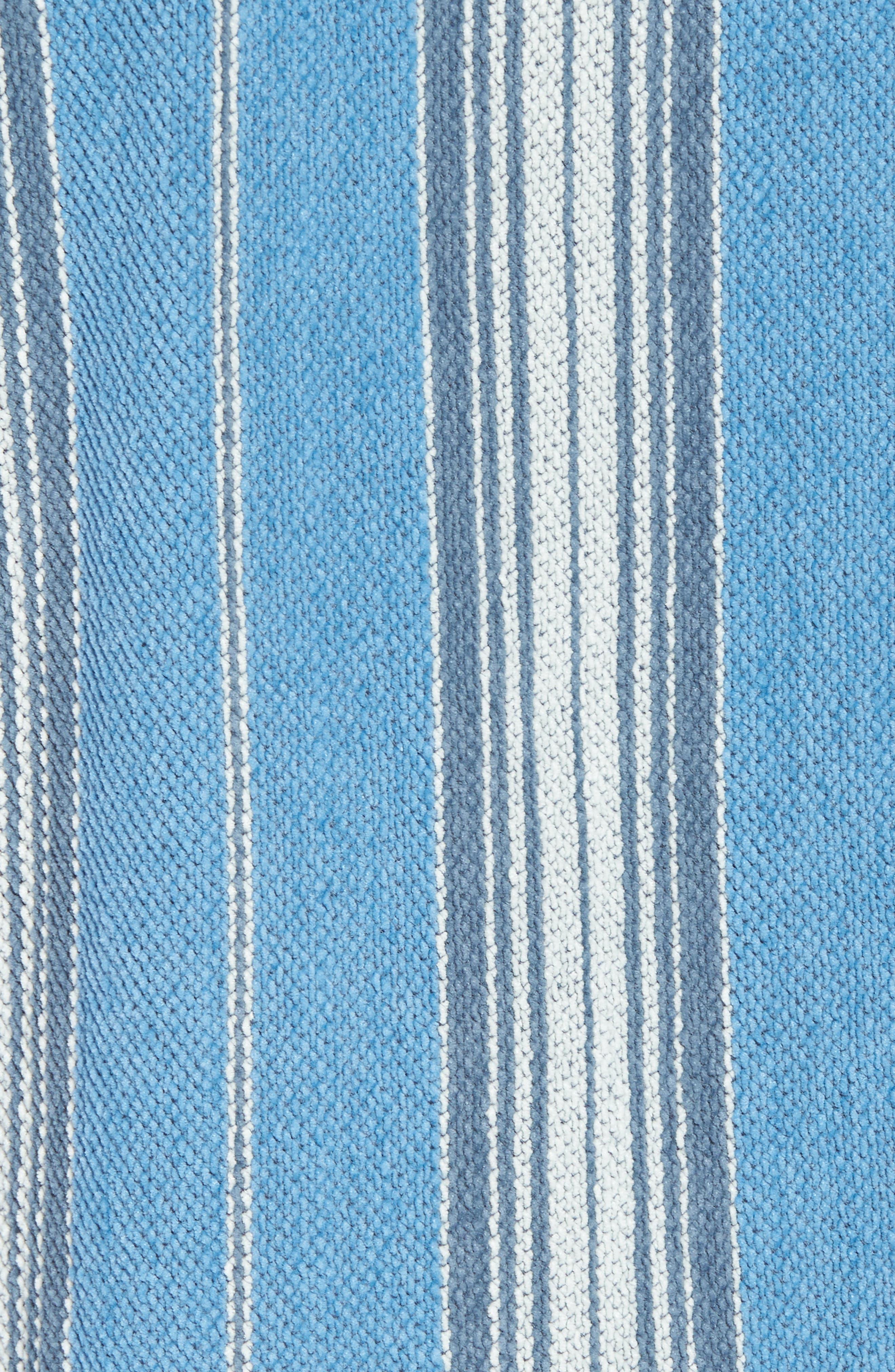 Baja Terry Poncho,                             Alternate thumbnail 5, color,                             Montauk Blue Serape