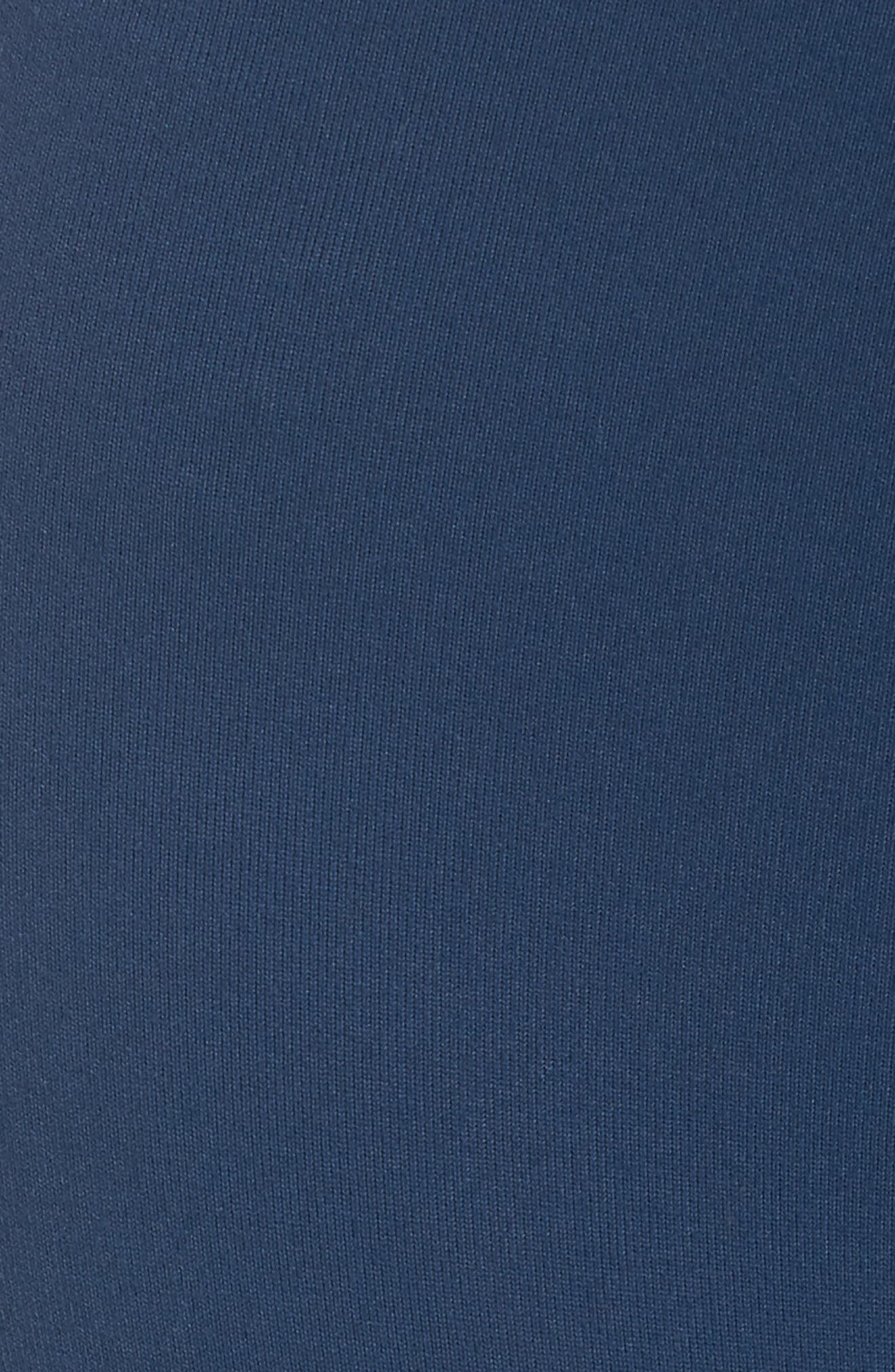 Cross the Line Crop Leggings,                             Alternate thumbnail 6, color,                             Blue Insignia