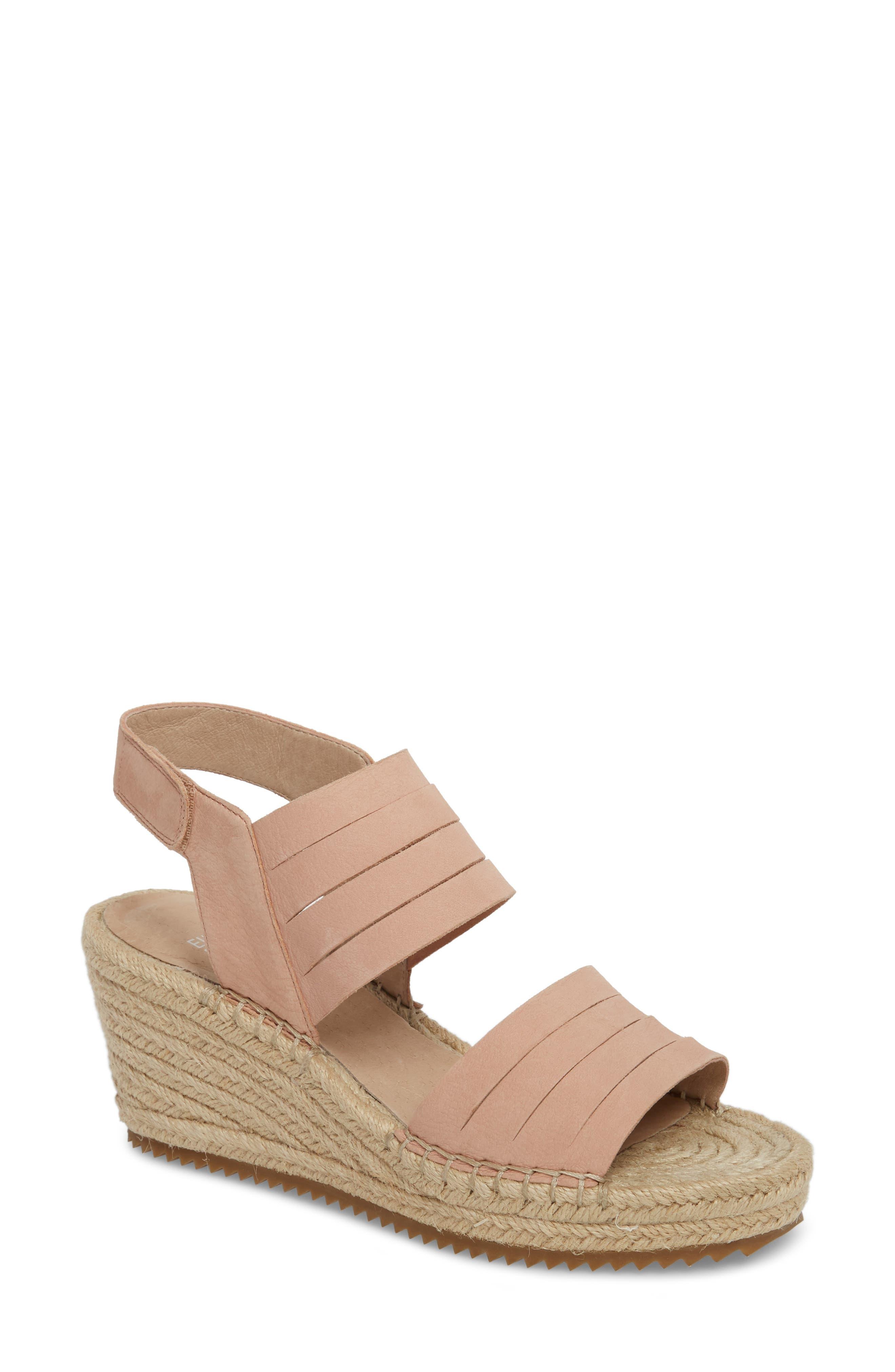 Largo Espadrille Wedge Sandal,                         Main,                         color, Toffee Cream Nubuck