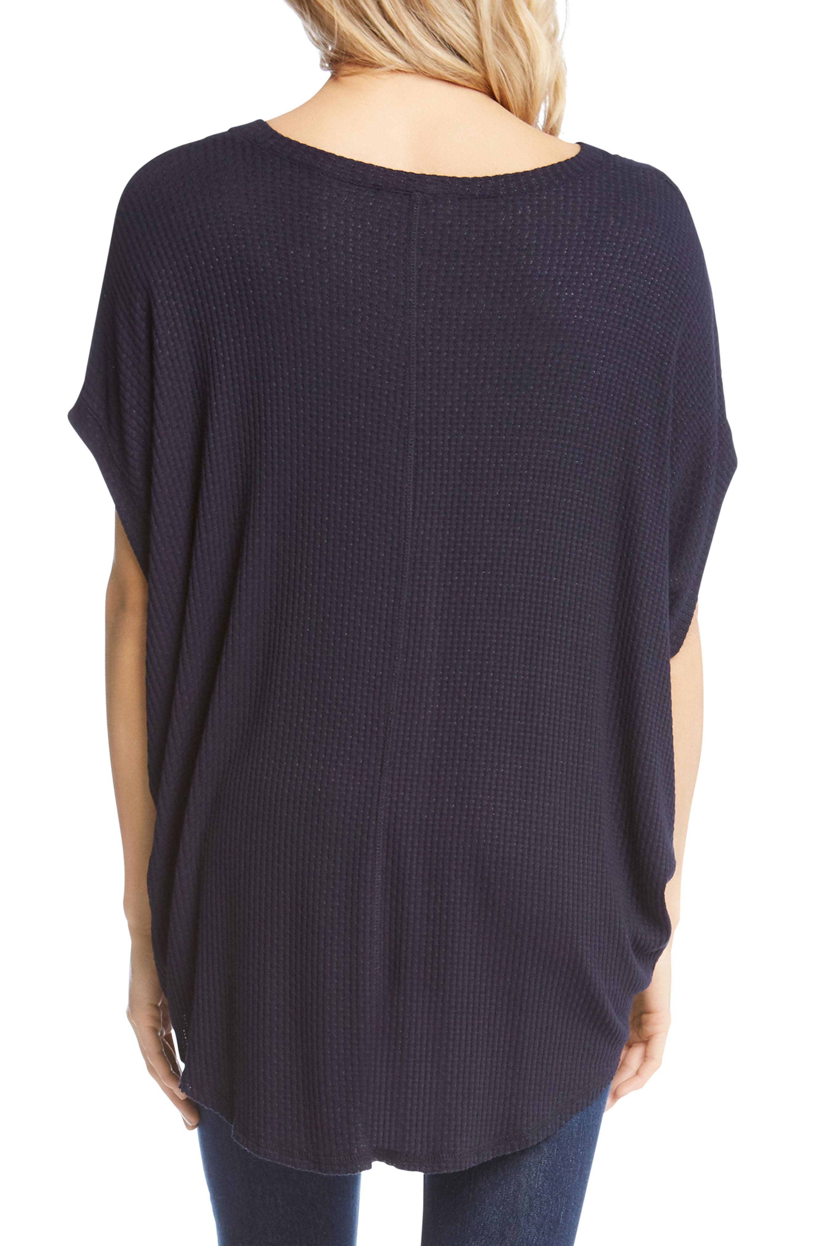 Textured High/Low Top,                             Alternate thumbnail 2, color,                             Navy