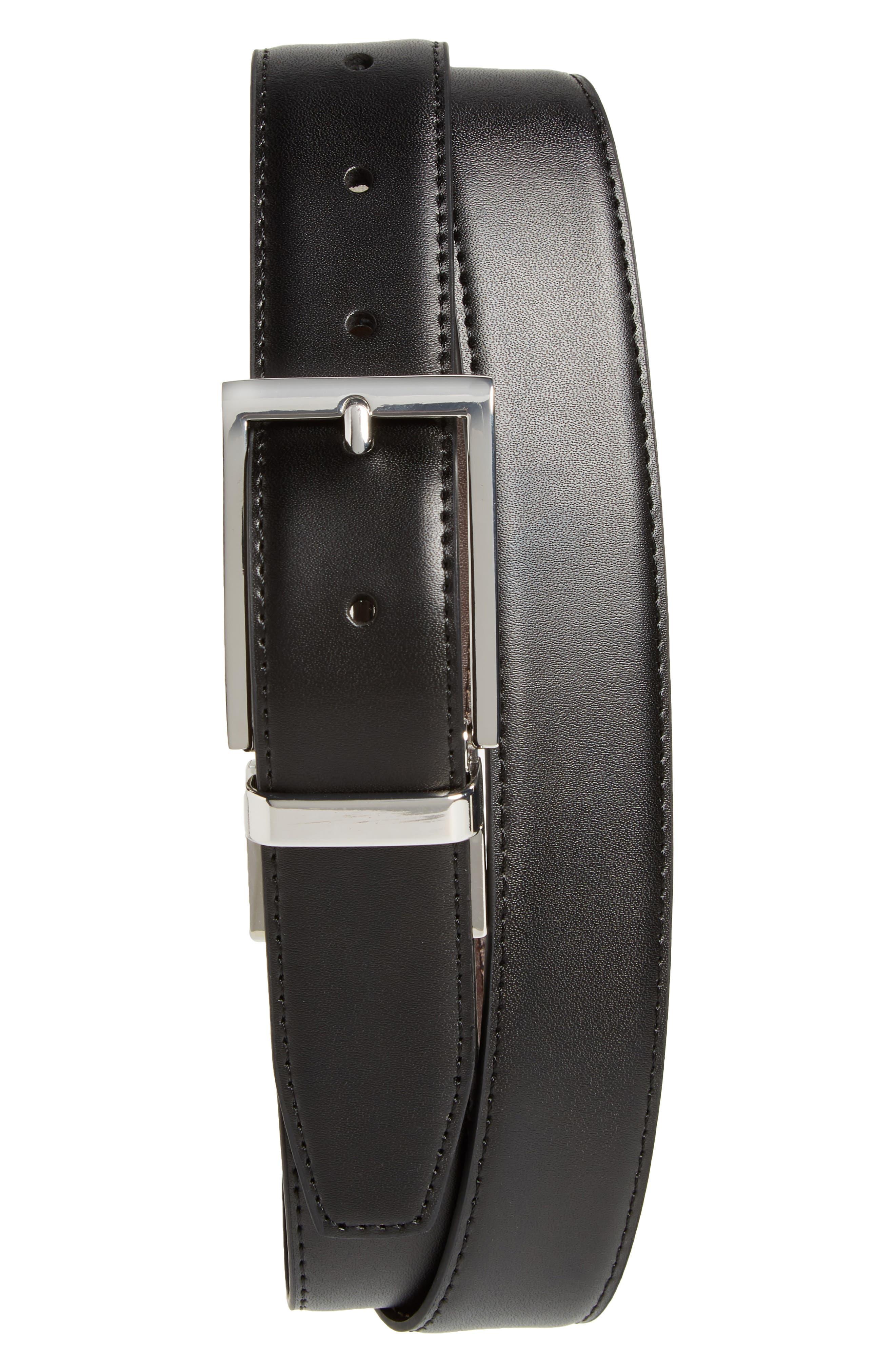 Newman Reversible Leather Belt,                             Alternate thumbnail 2, color,                             Black/ Brown