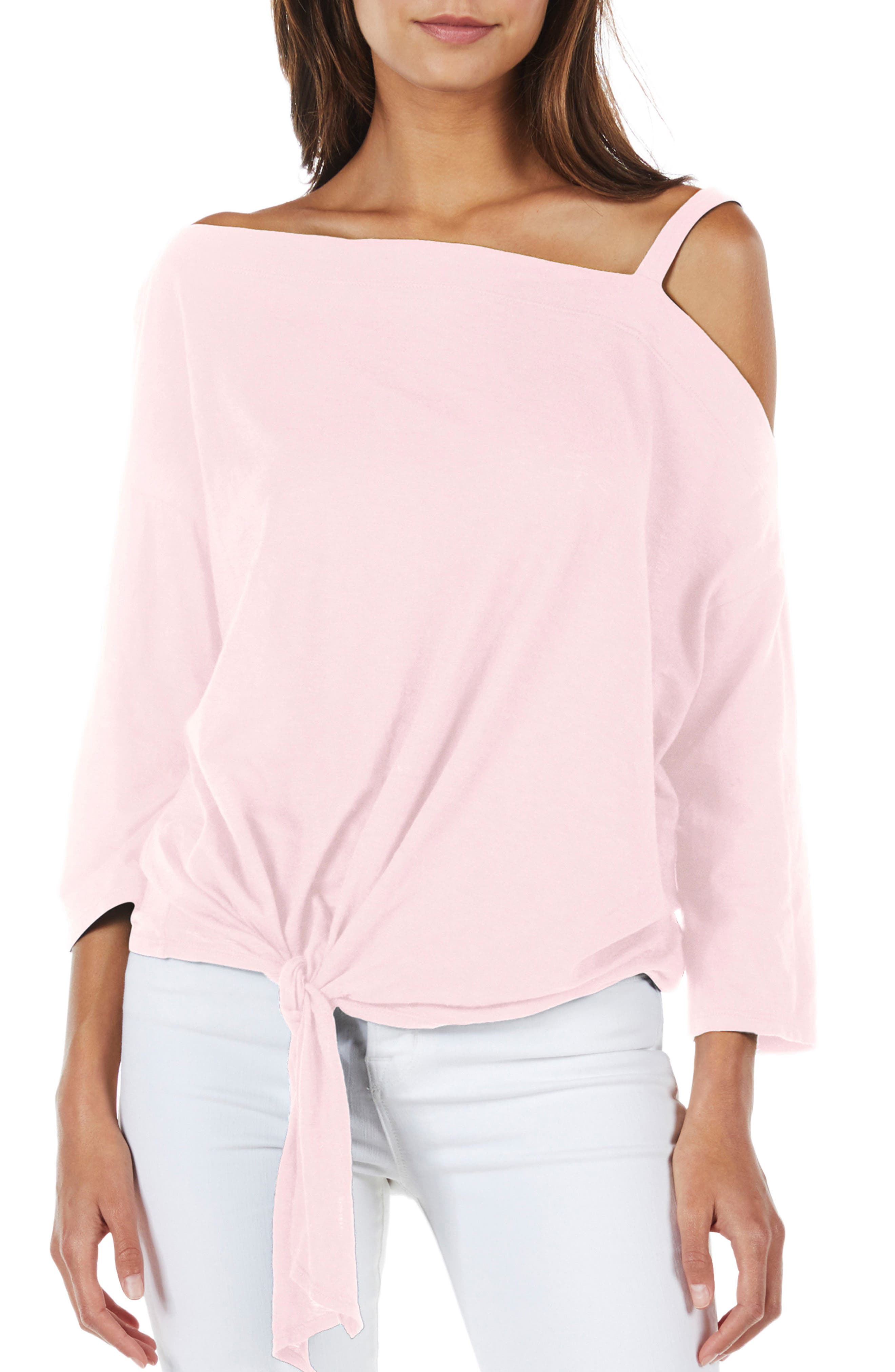 Knot Front Top,                         Main,                         color, Tickle