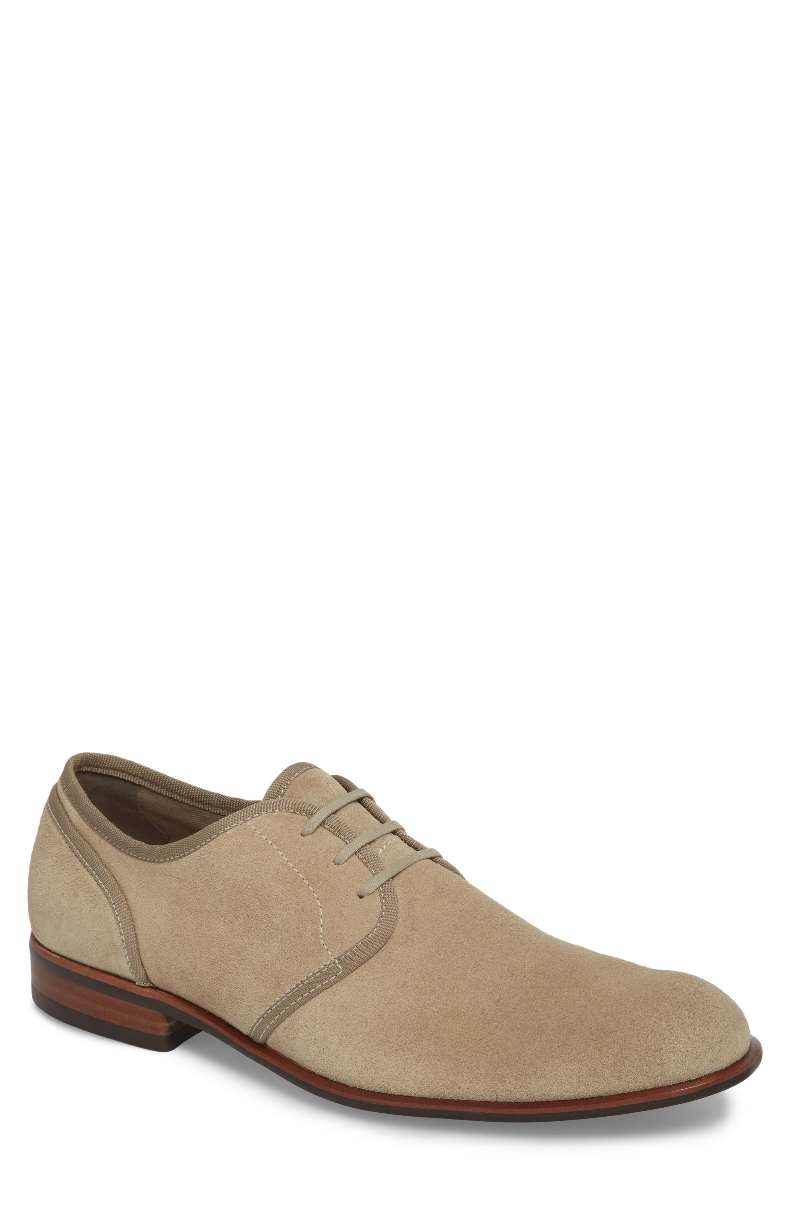 John Varvatos Star USA Seagher Plain Toe Derby,                         Main,                         color, Lt. Brown