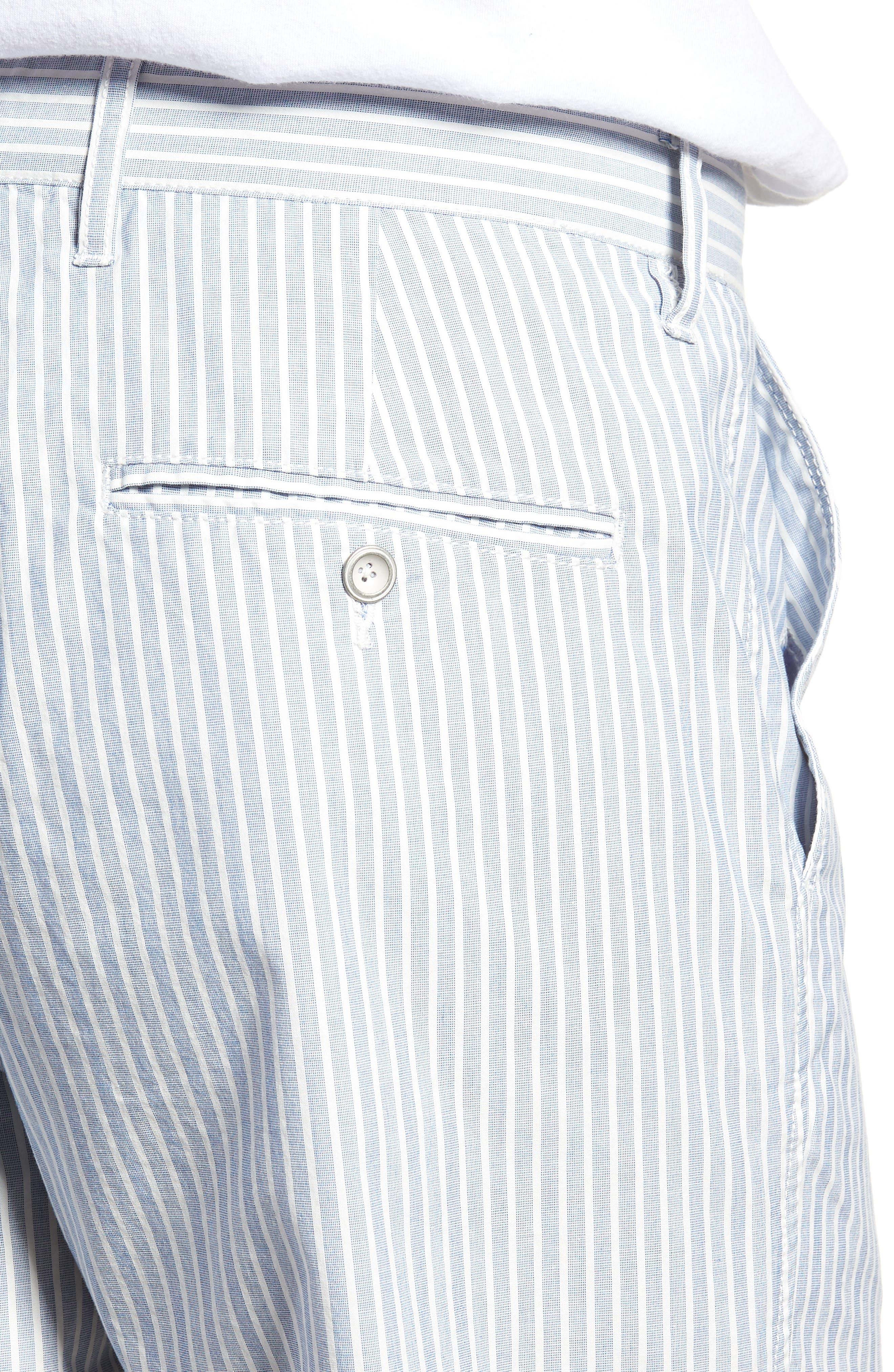 Preston Regular Fit Flat Front Shorts,                             Alternate thumbnail 4, color,                             Pacific