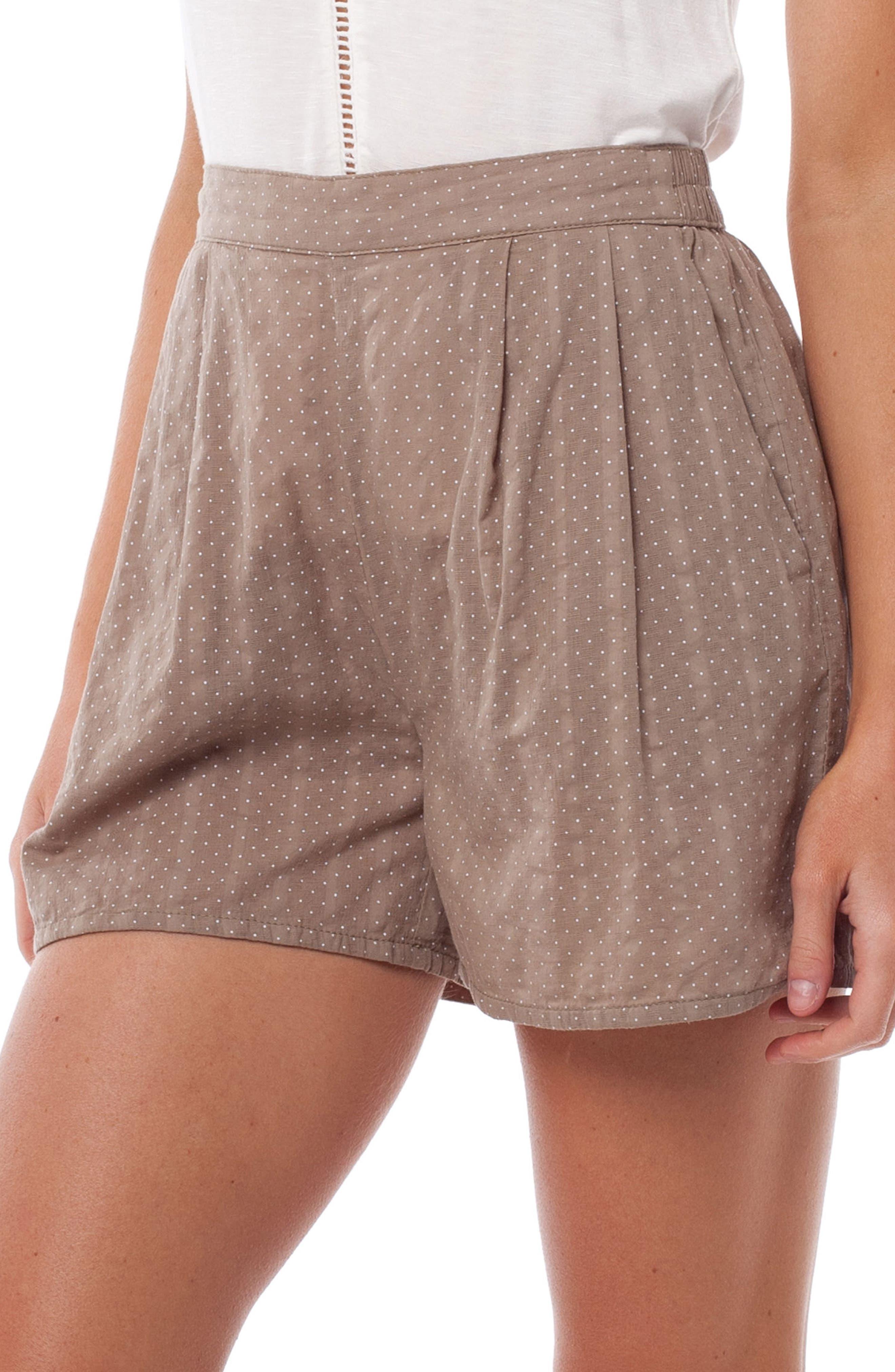 Messina Cover-Up Shorts,                             Alternate thumbnail 3, color,                             Chai