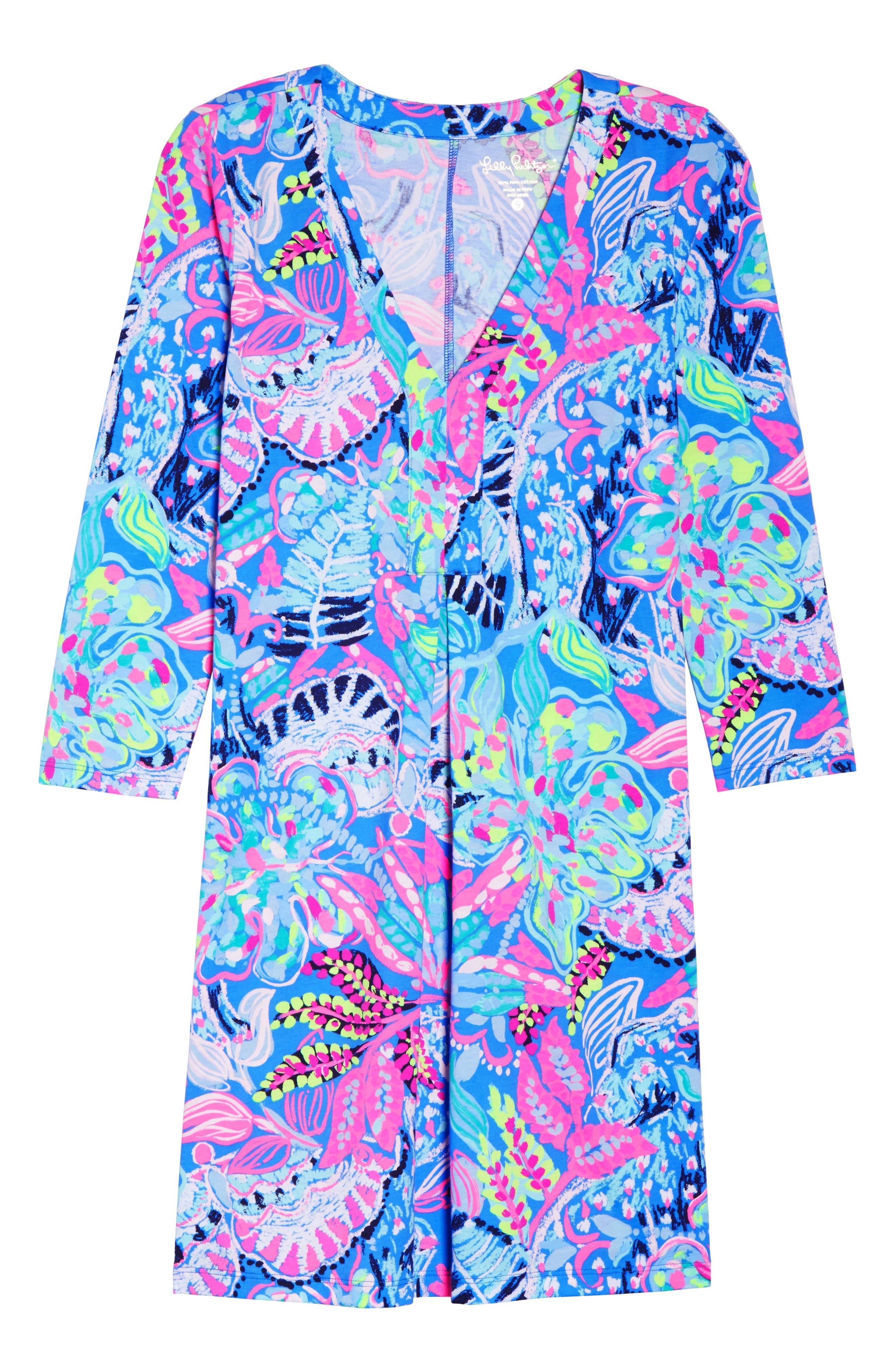 Amina Swing Dress,                             Alternate thumbnail 6, color,                             Multi Fantasy Garden