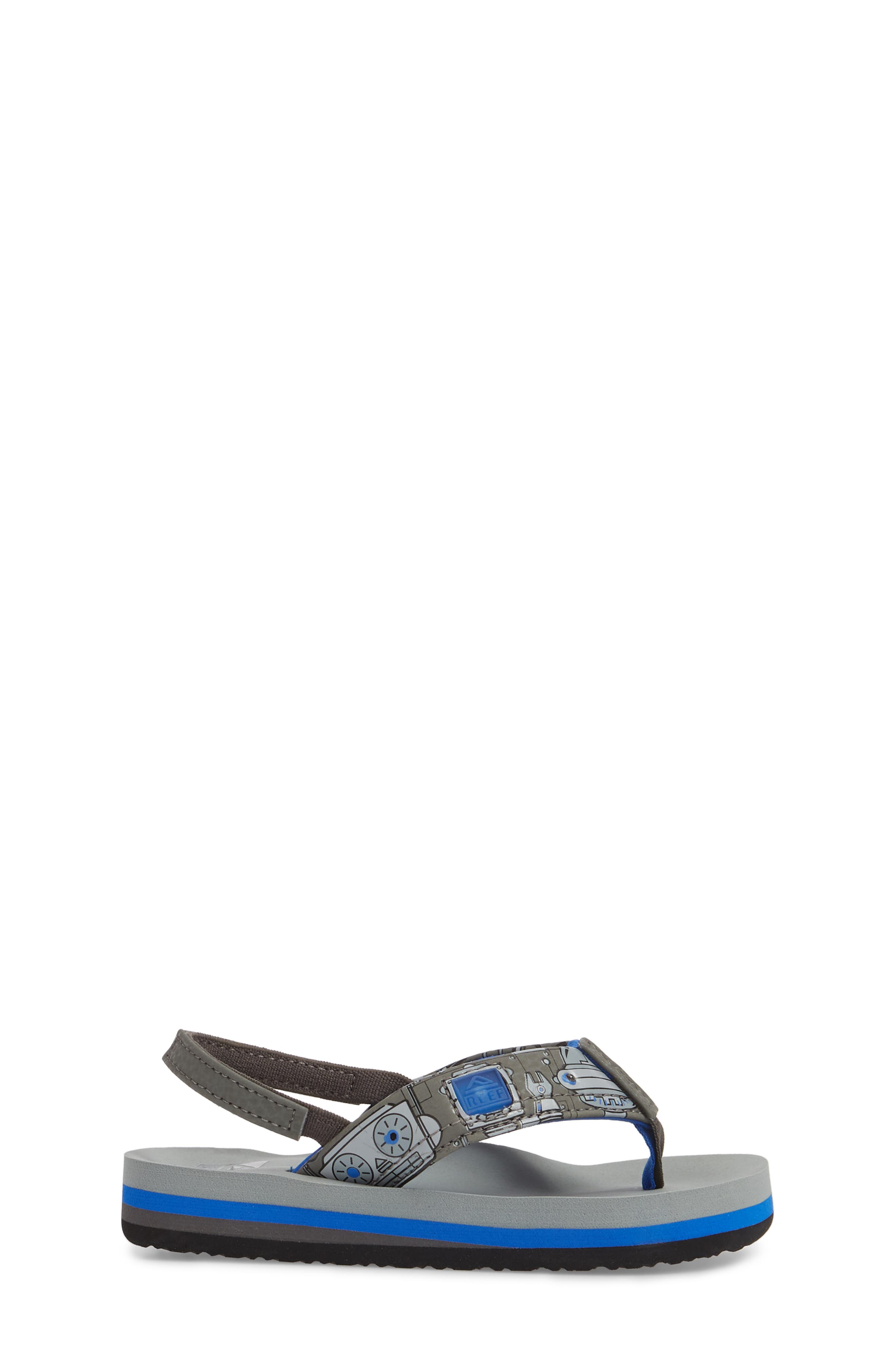 Ahi Light-Up Flip Flop,                             Alternate thumbnail 3, color,                             Grey