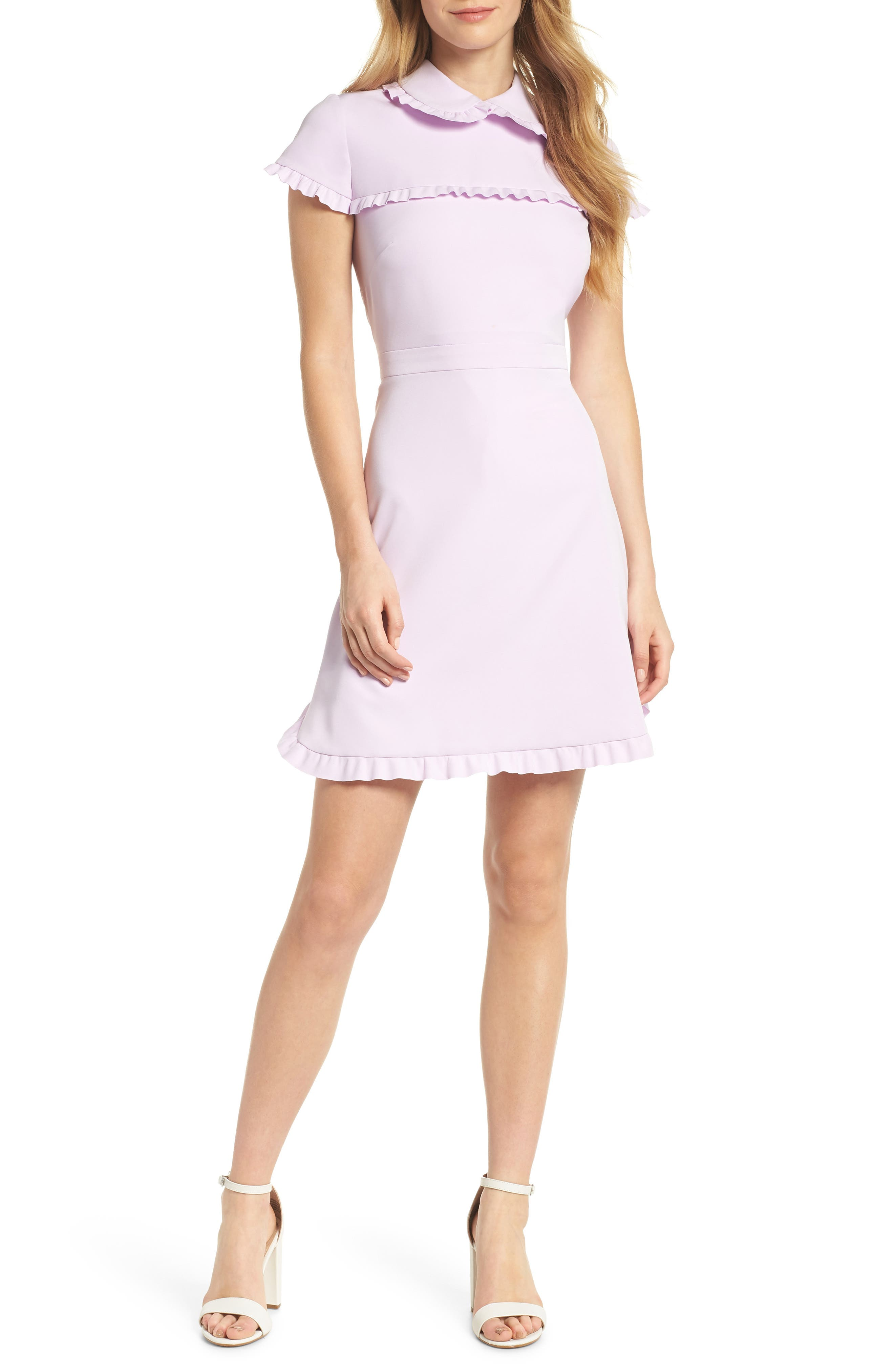 Gal Meets Glam Collection Dream Ruffle Crepe Dress