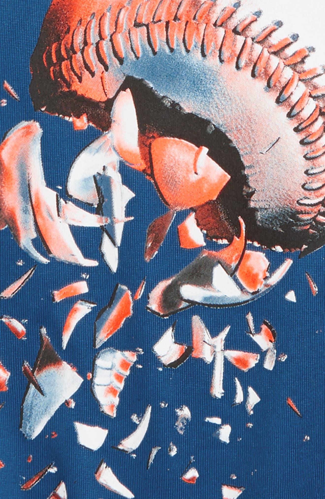 Baseball Explosion HeatGear<sup>®</sup> T-Shirt,                             Alternate thumbnail 2, color,                             Moroccan Blue