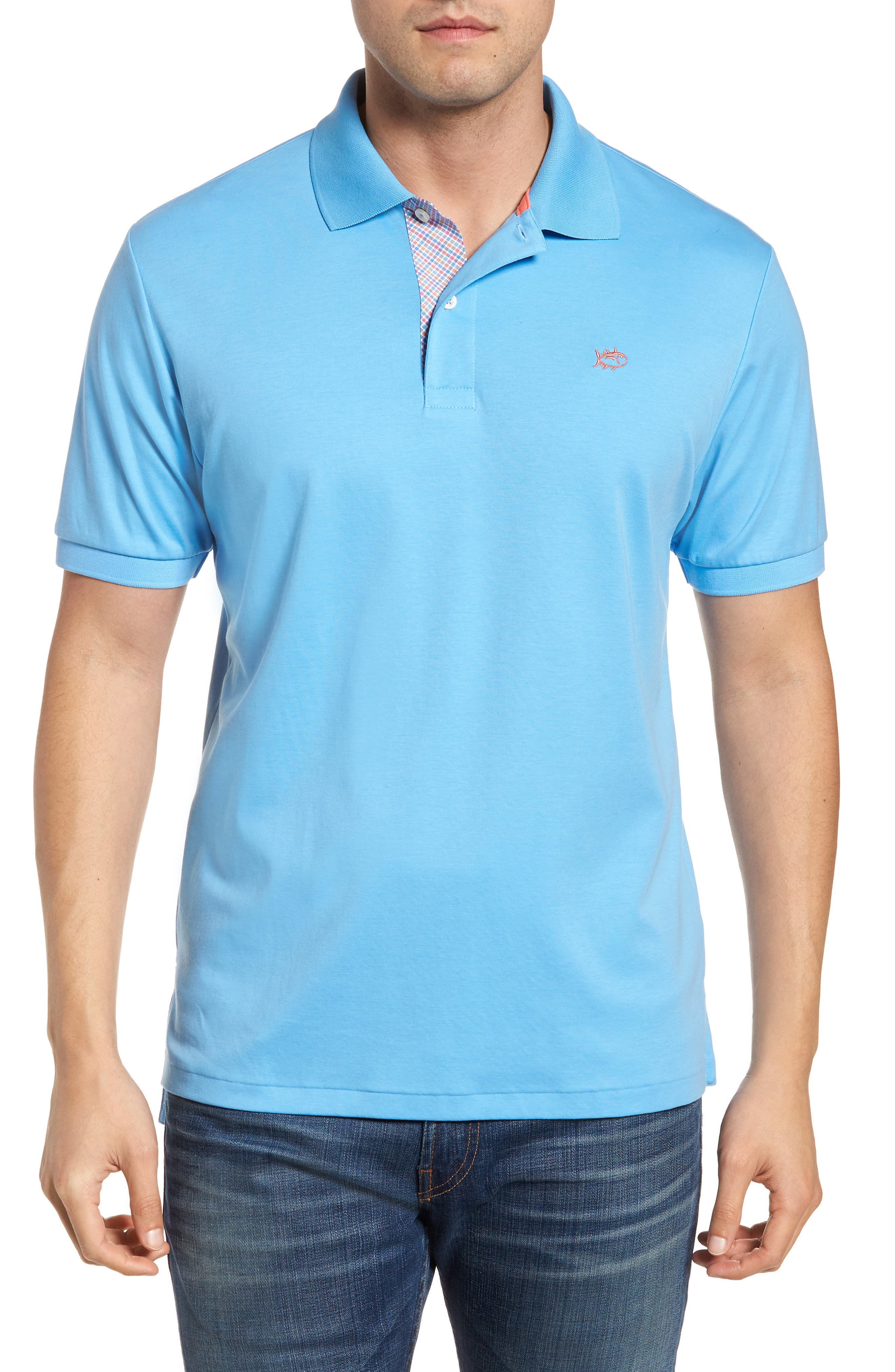 Sugar Mill Jersey Polo,                             Main thumbnail 1, color,                             Ocean Channel
