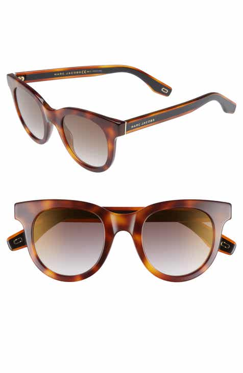 ff2cf5cd839 MARC JACOBS 47mm Round Lens Cat Eye Sunglasses